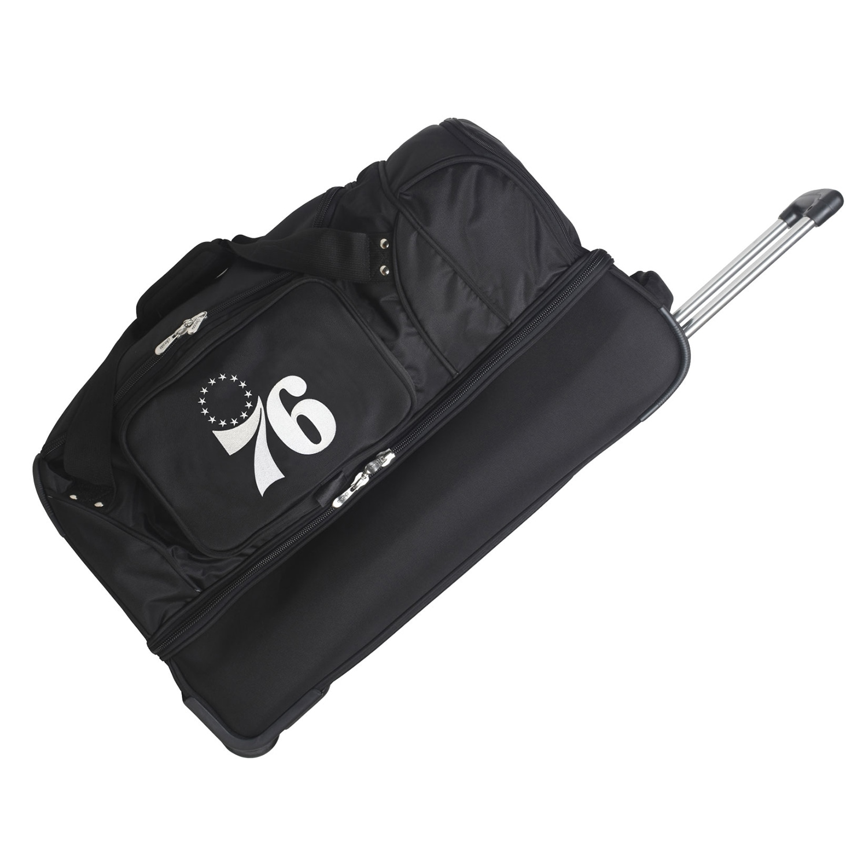 "Philadelphia 76ers 27"" 2-Wheel Rolling Drop Bottom Duffel Bag - Black"