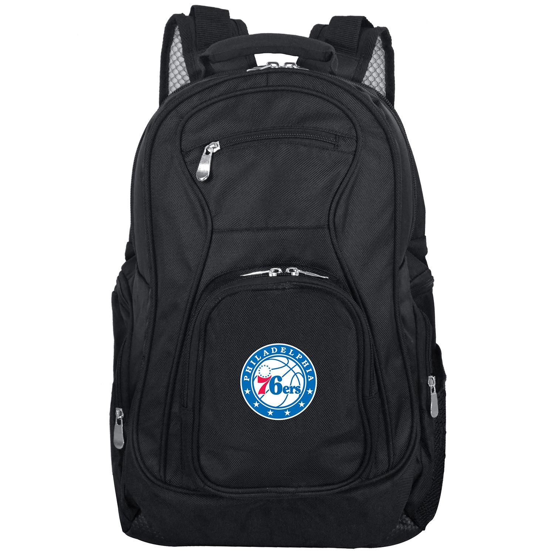 """Philadelphia 76ers 19"""" Laptop Travel Backpack - Black"""