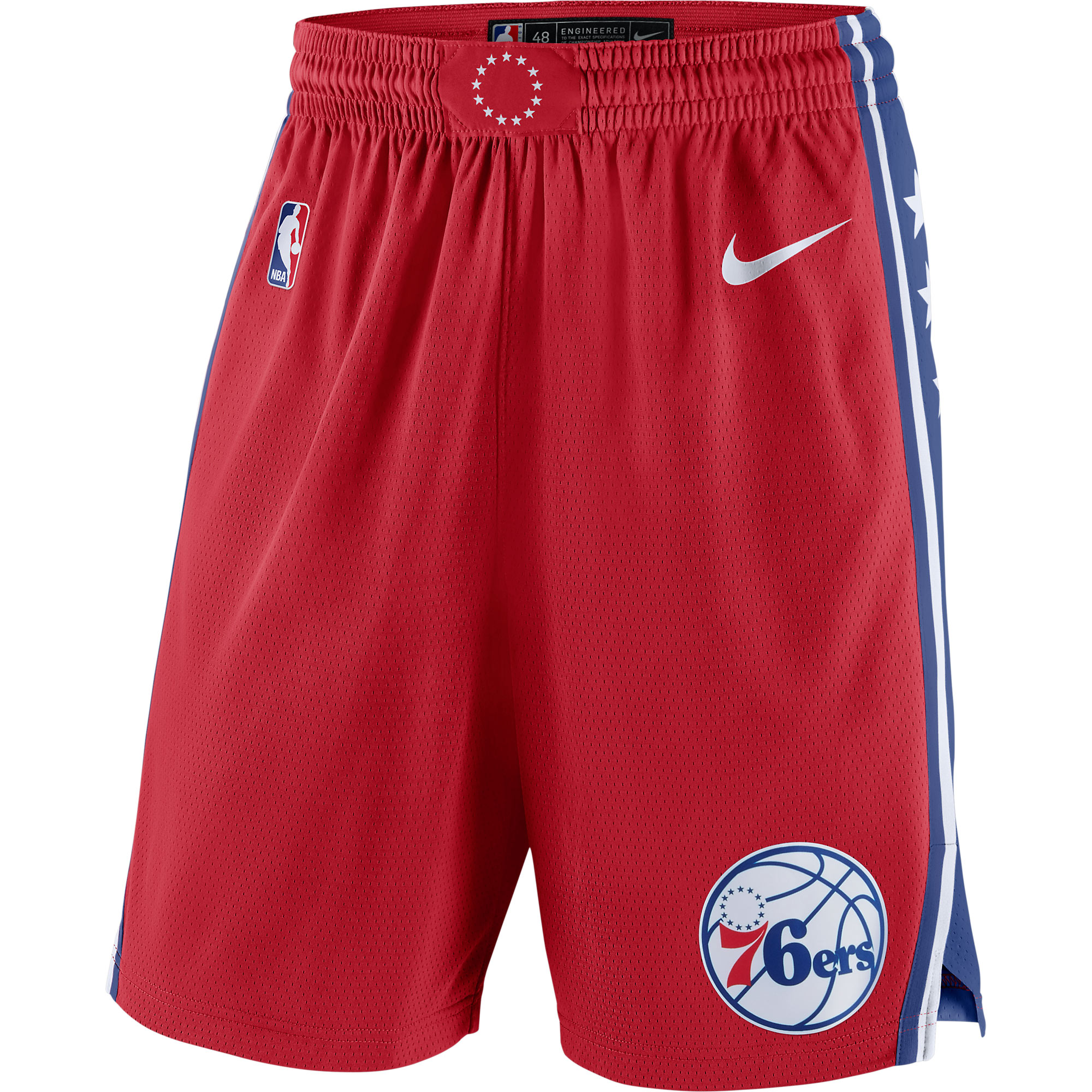Philadelphia 76ers Nike Statement Swingman Basketball Shorts - Red