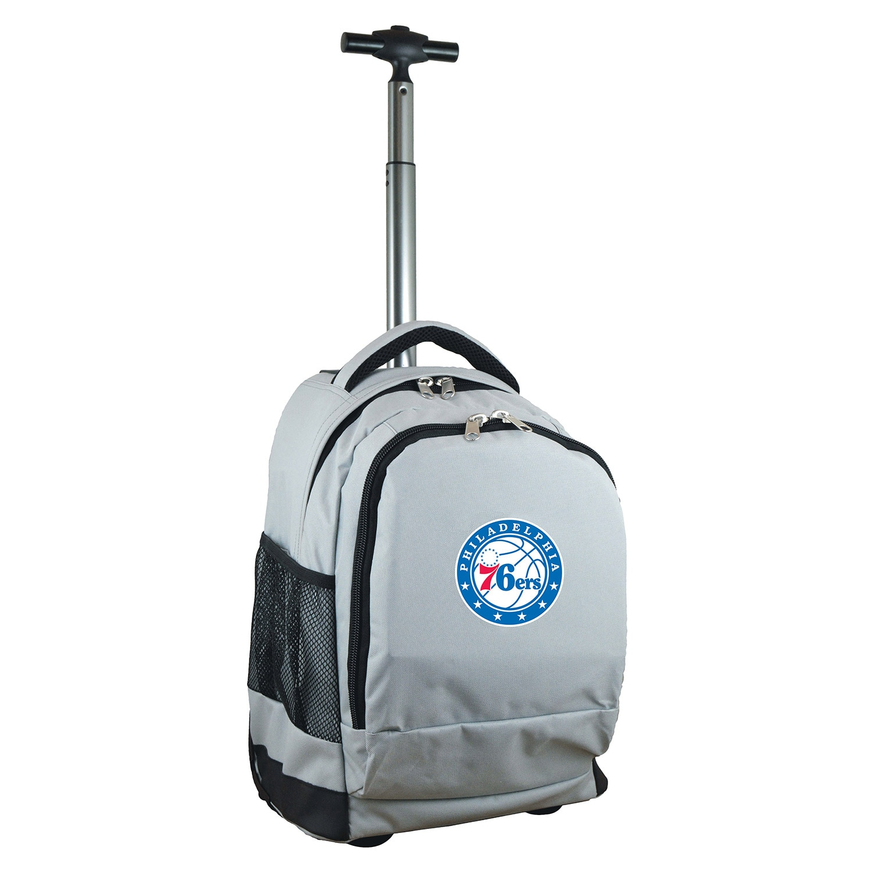 Philadelphia 76ers 19'' Premium Wheeled Backpack - Gray
