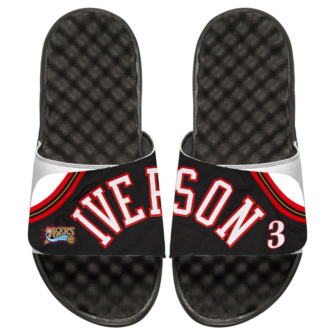 Allen Iverson Philadelphia 76ers ISlide Retro Jersey Slide Sandals
