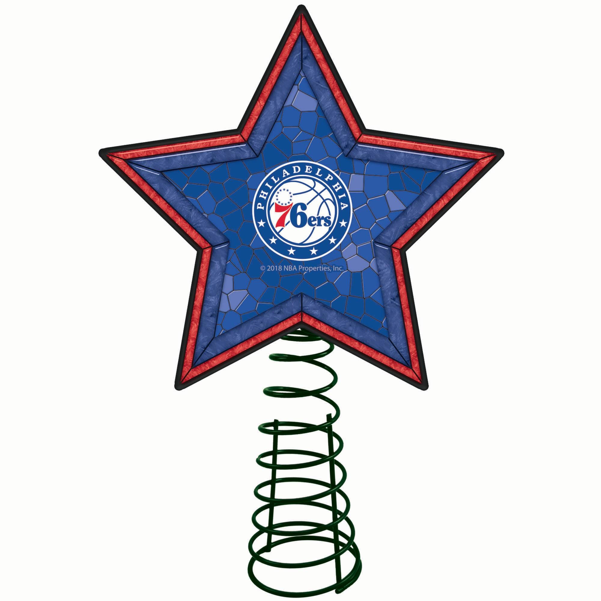 Philadelphia 76ers Mosaic Tree Topper