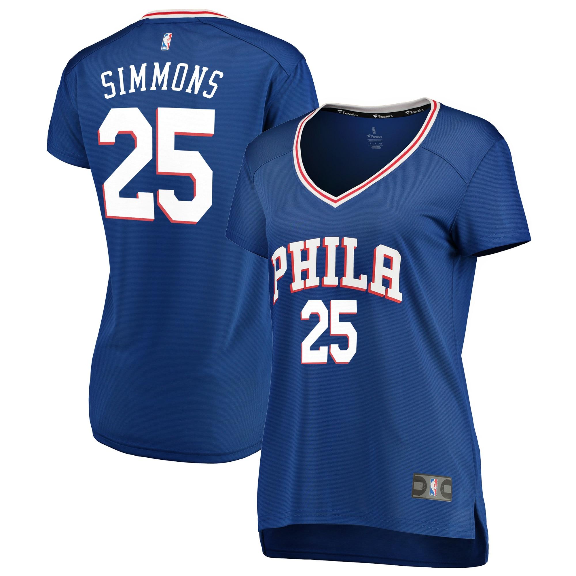 Ben Simmons Philadelphia 76ers Fanatics Branded Women's Fast Break Replica Jersey Royal - Icon Edition