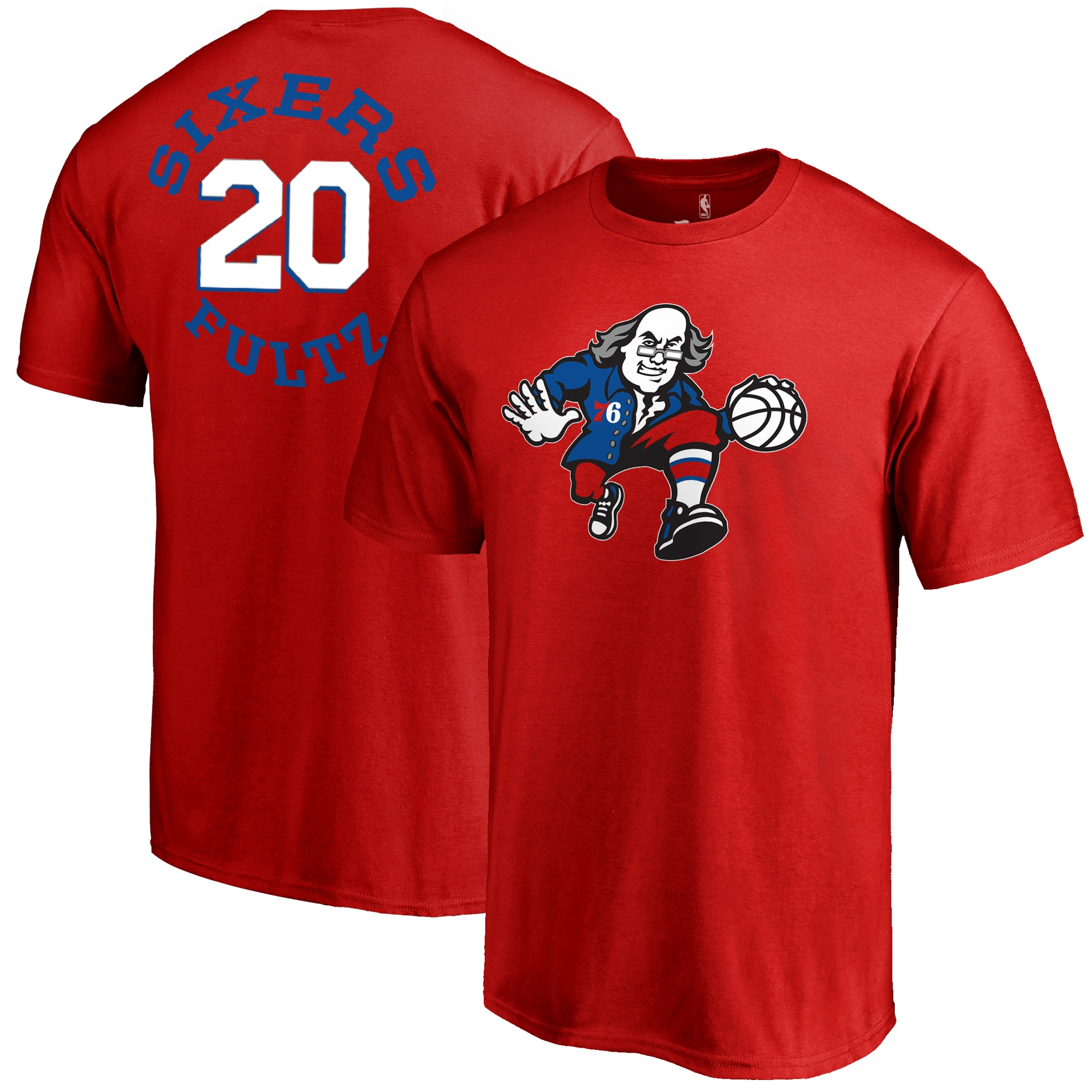Markelle Fultz Philadelphia 76ers Fanatics Branded Round About Name & Number T-Shirt - Red