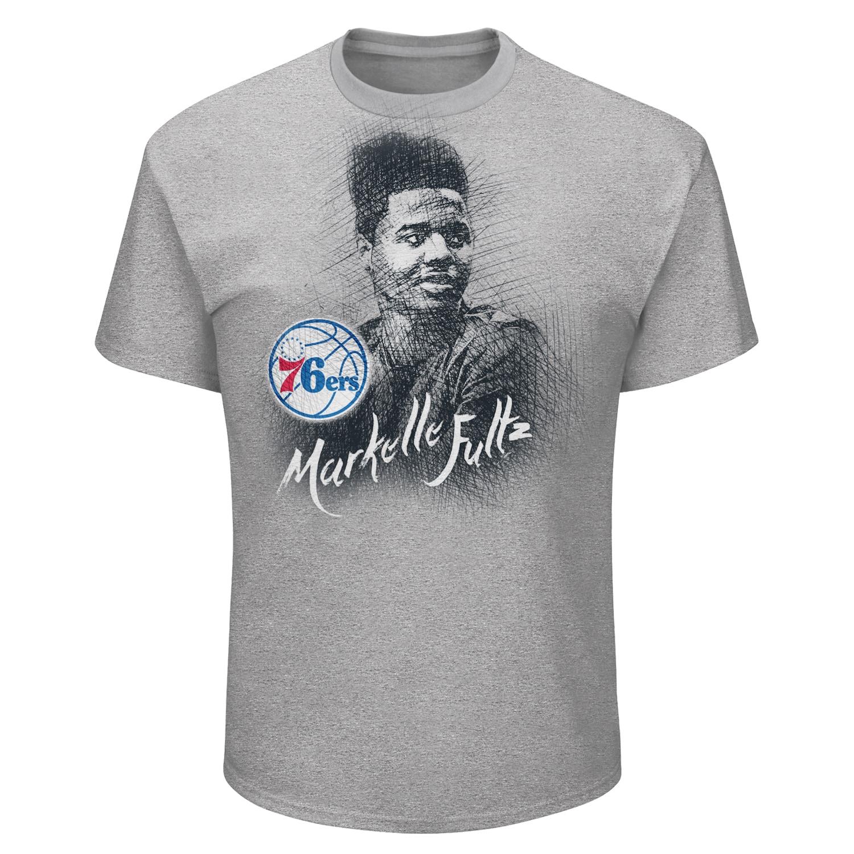 Markelle Fultz Philadelphia 76ers Majestic 2017 NBA Draft Pick T-Shirt - Gray
