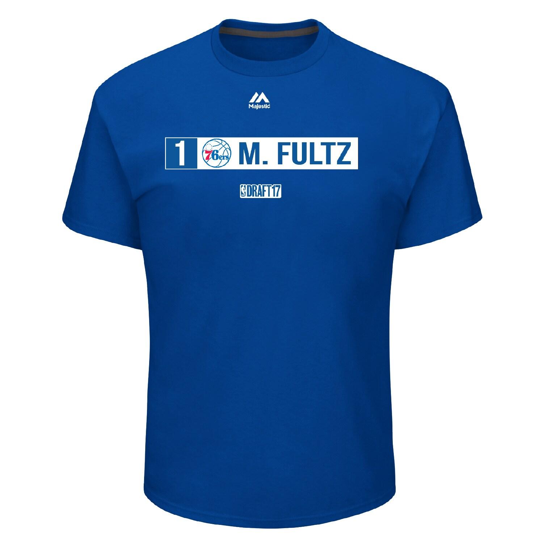 Markelle Fultz Philadelphia 76ers Majestic 2017 NBA Draft Slot T-Shirt - Royal