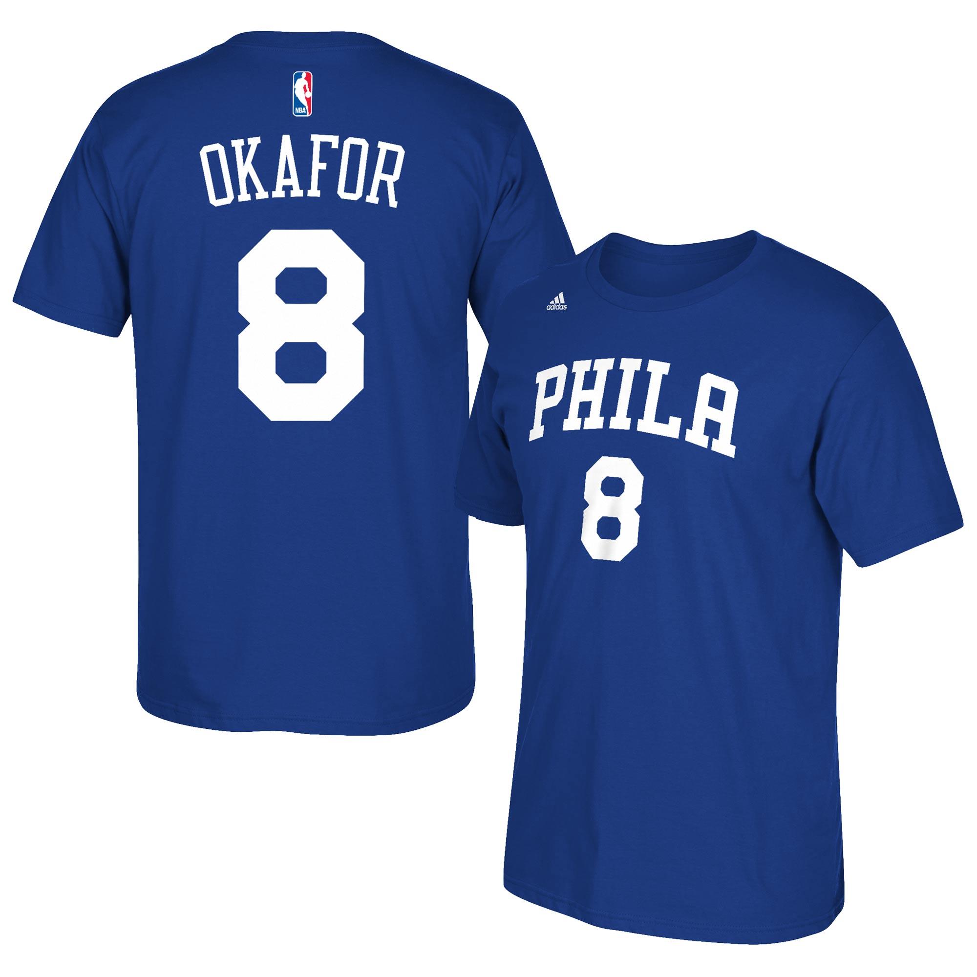 Jahlil Okafor Philadelphia 76ers adidas Net Number T-Shirt - Royal