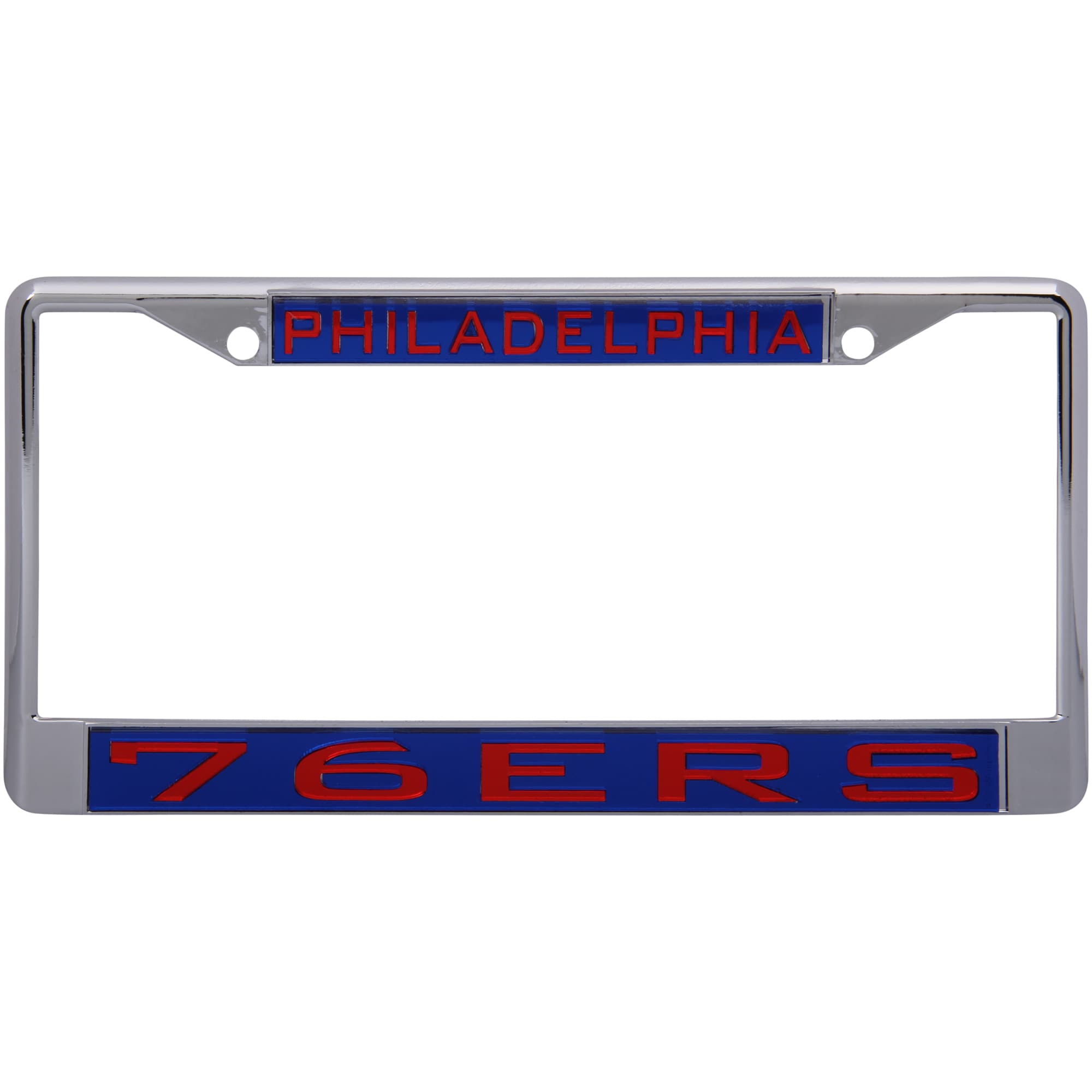 Philadelphia 76ers WinCraft Laser Inlaid Metal License Plate Frame