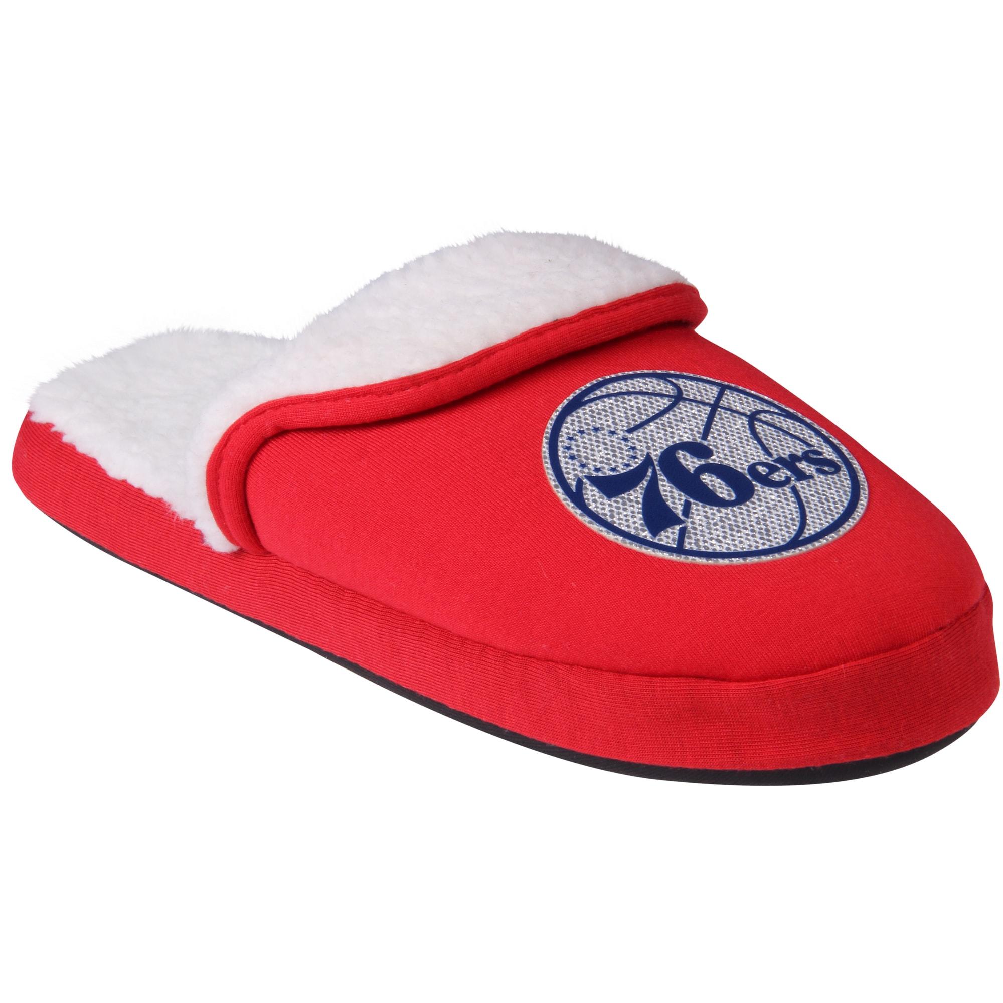Philadelphia 76ers Women's Glitter Patch Slippers