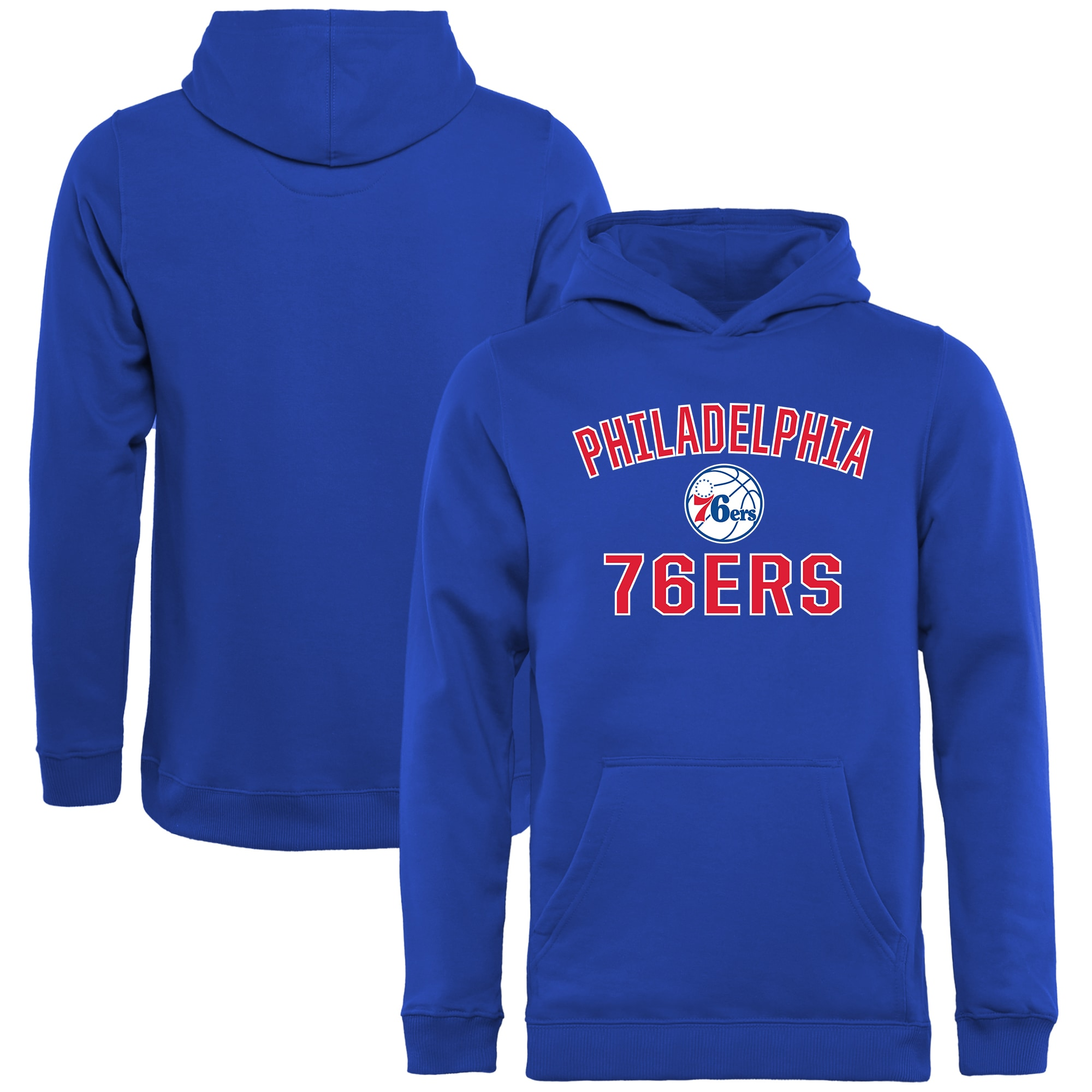 Philadelphia 76ers Youth Victory Arch Pullover Hoodie - Royal