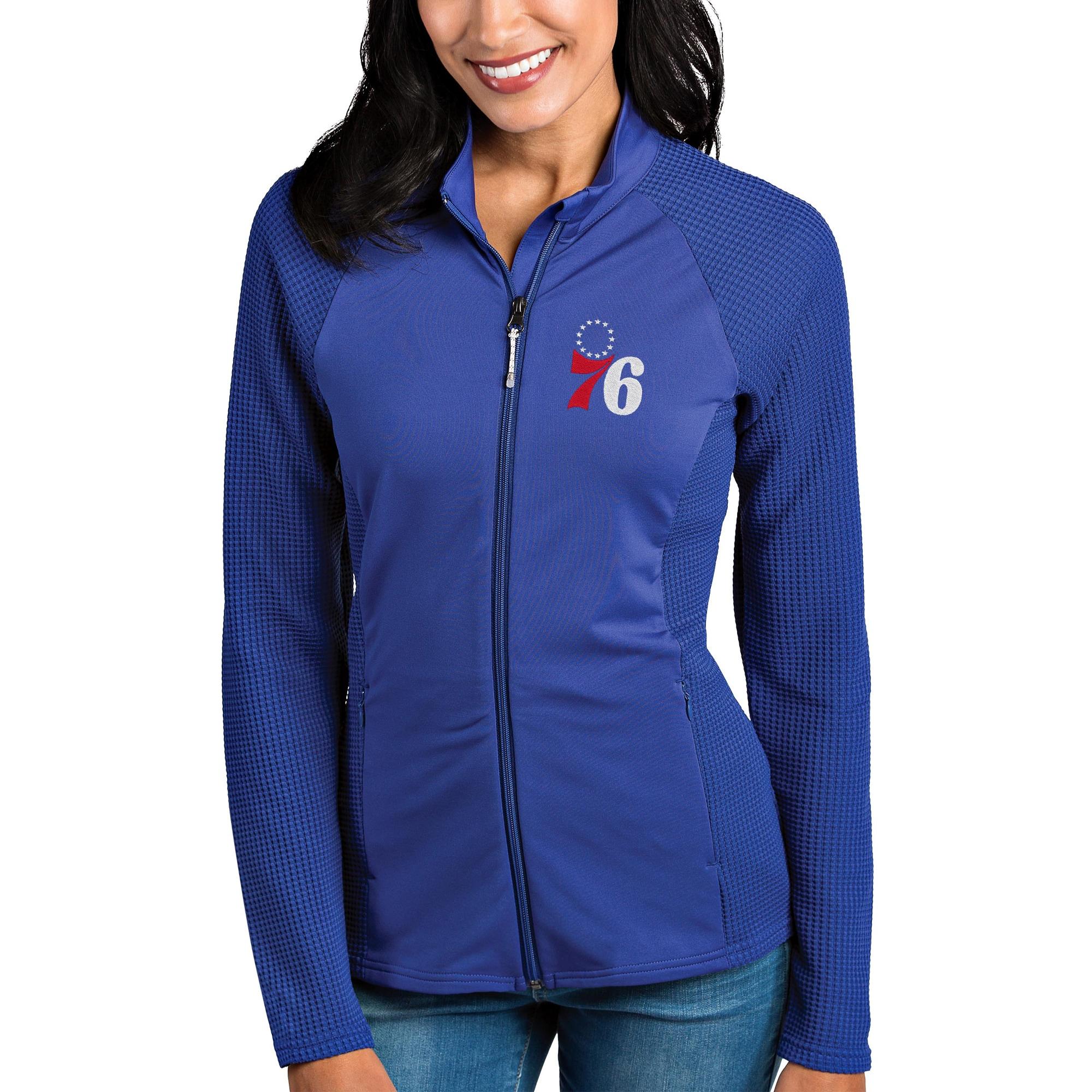 Philadelphia 76ers Antigua Women's Sonar Full-Zip Jacket - Royal