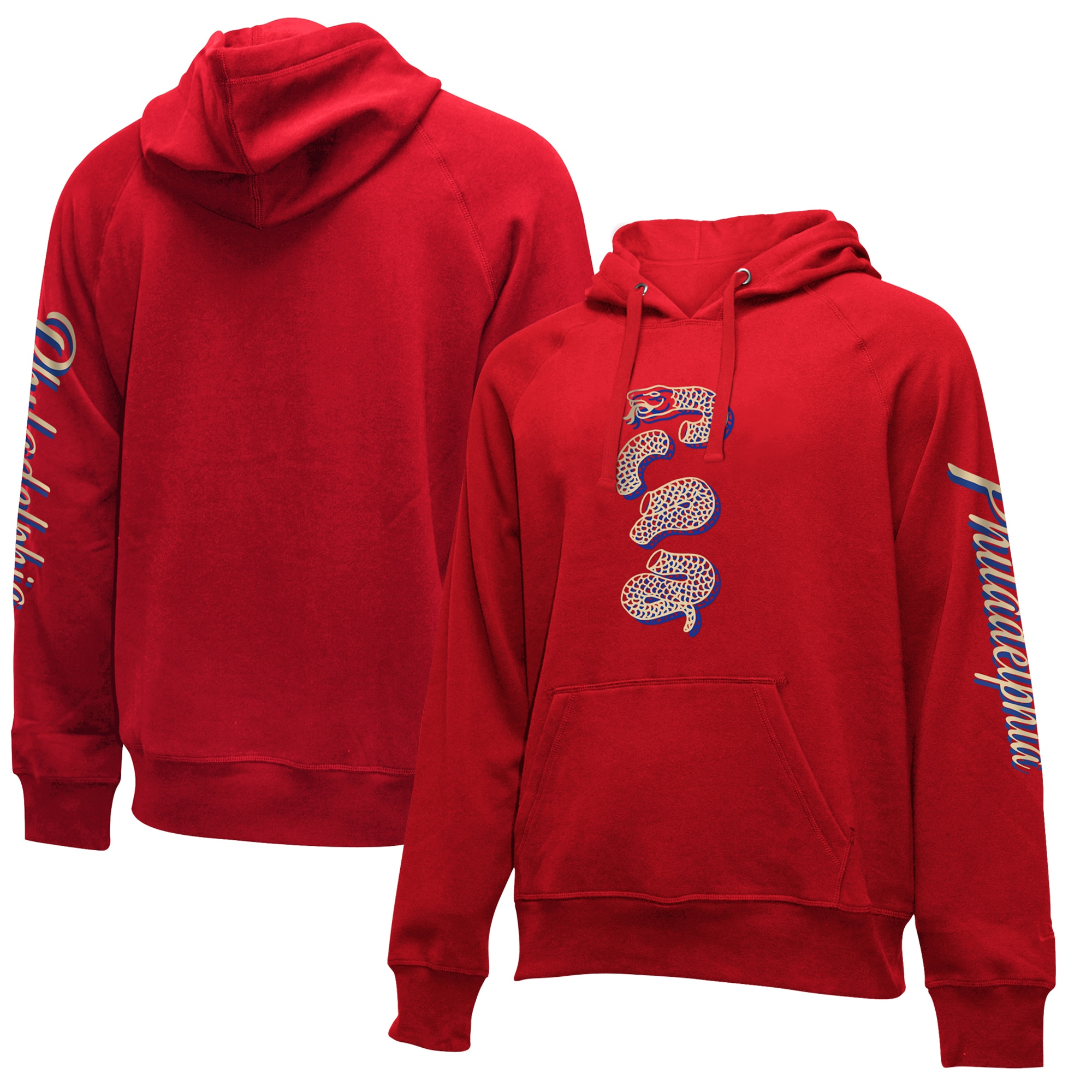 Philadelphia 76ers New Era 2019/20 City Edition Pullover Hoodie - Red