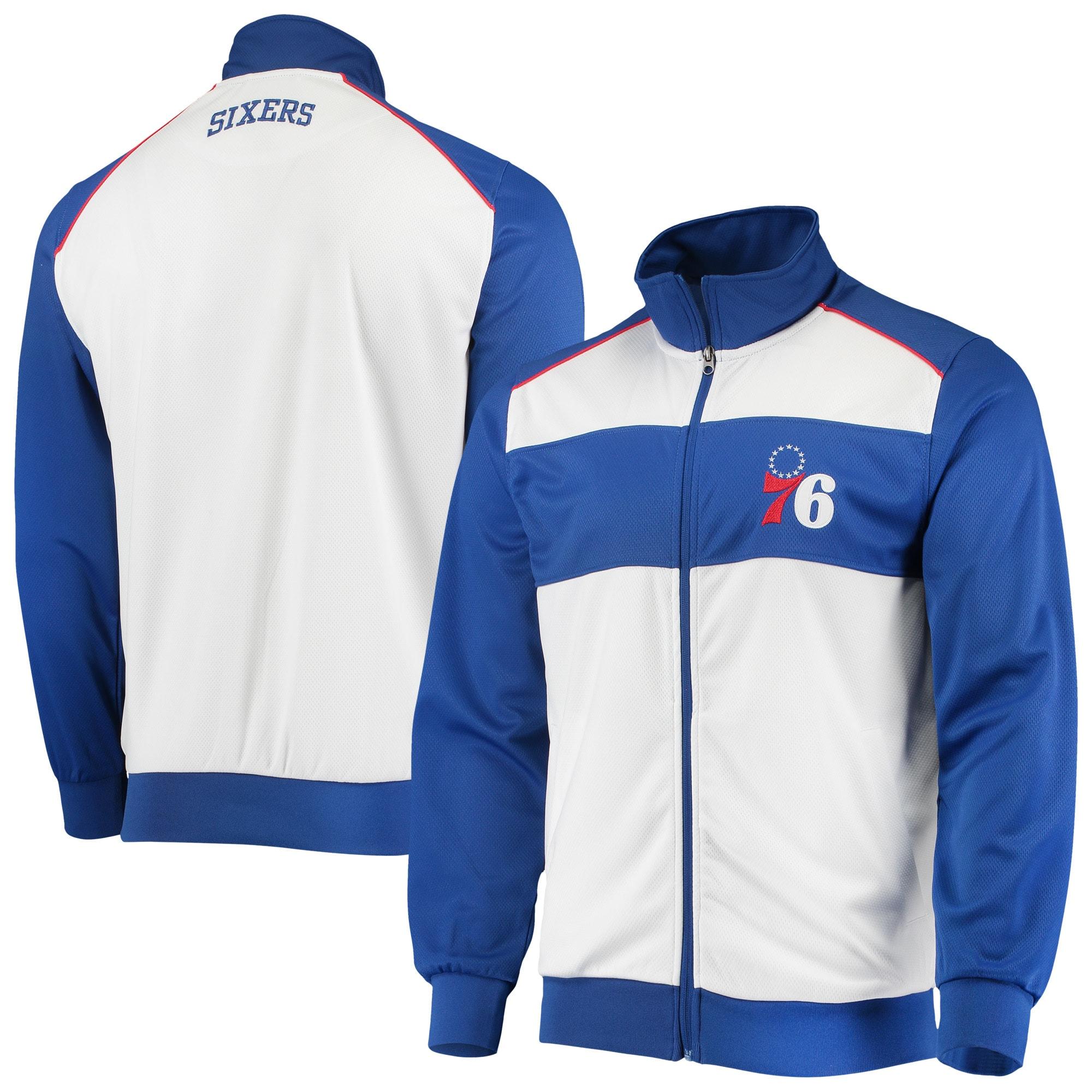 Philadelphia 76ers G-III Sports by Carl Banks Layup Full-Zip Track Jacket - White/Royal