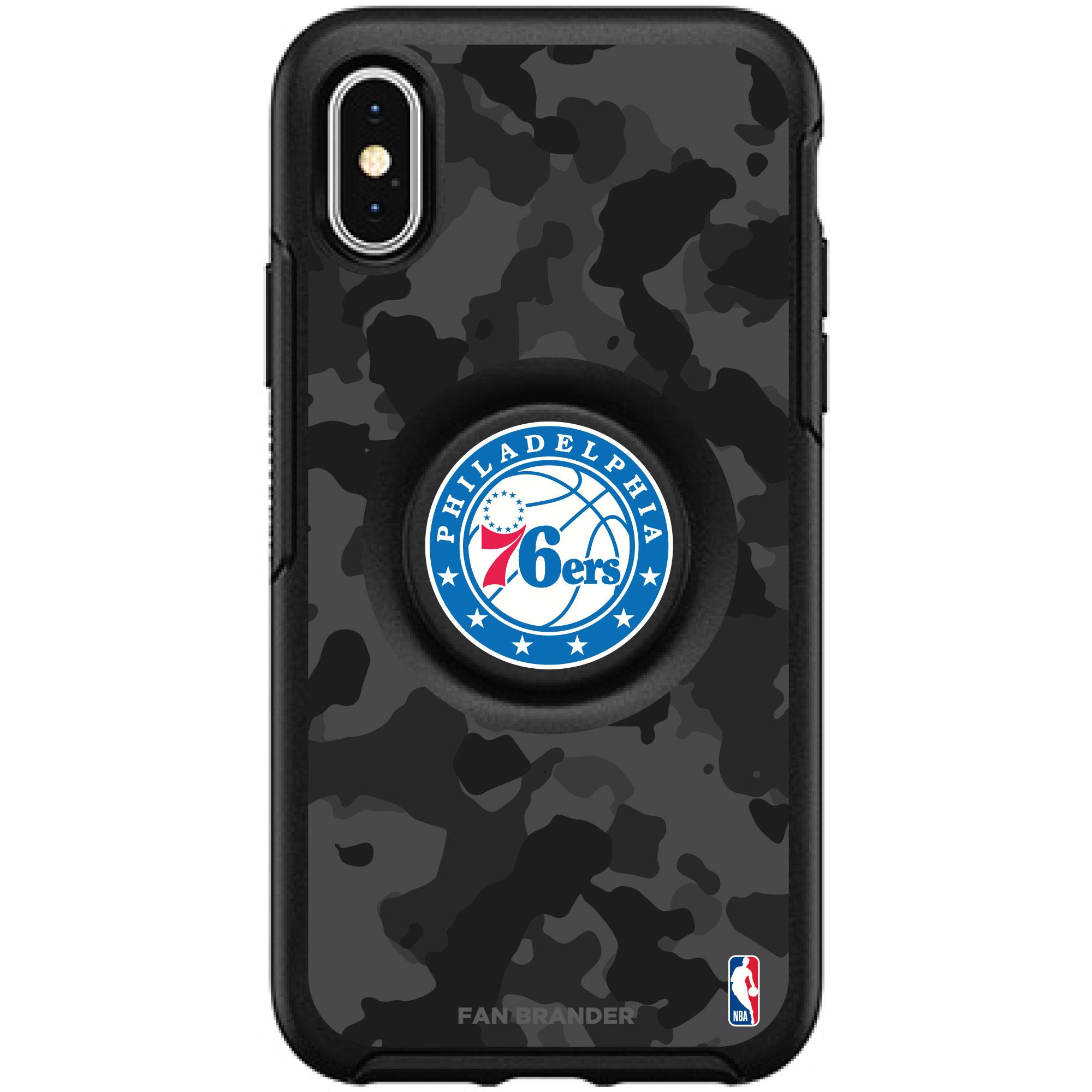 Philadelphia 76ers OtterBox Otter + PopSocket Symmetry Urban Camo iPhone Case