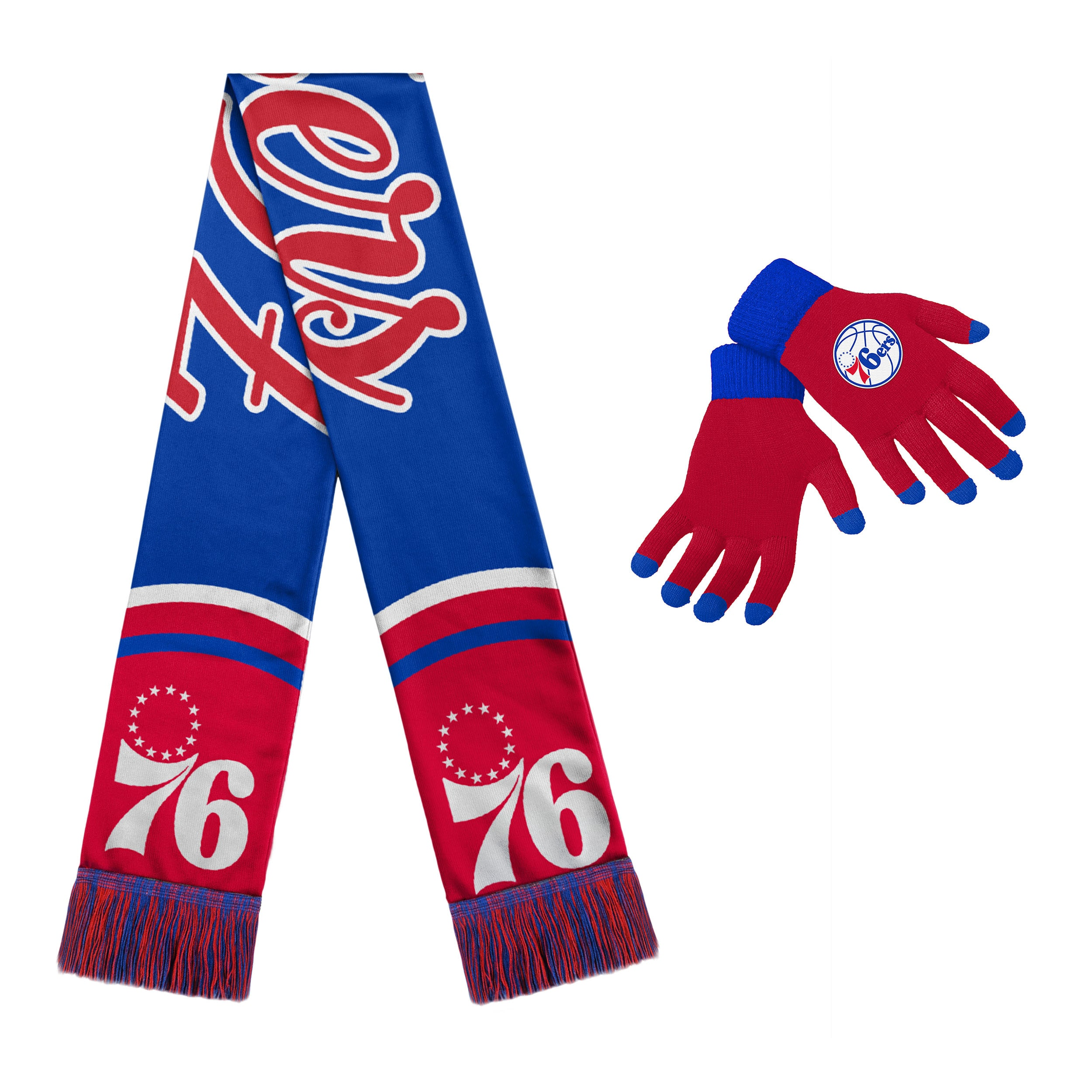 Philadelphia 76ers Women's Glove and Scarf Set