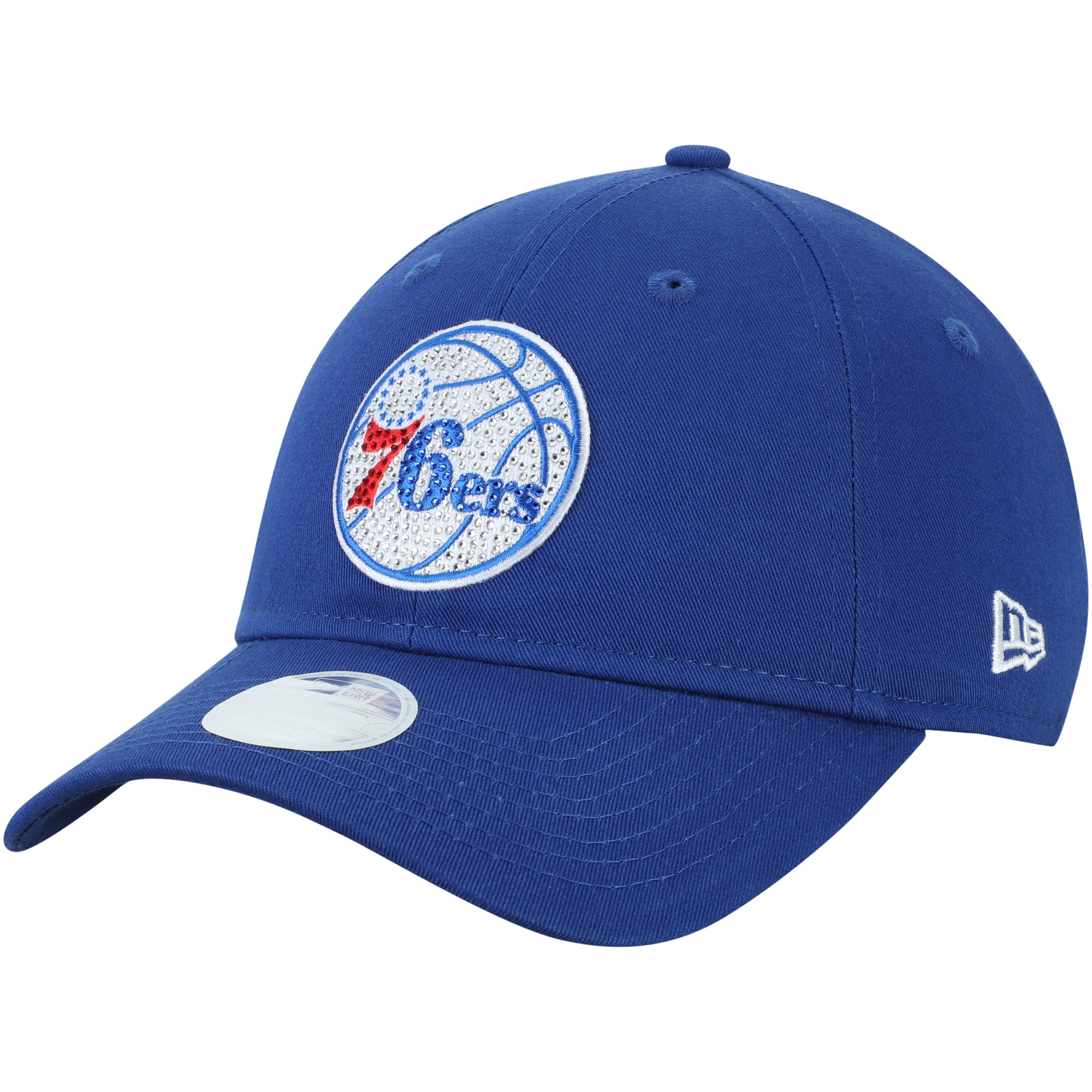 Philadelphia 76ers New Era Women's Dazzle 9TWENTY Adjustable Hat - Royal