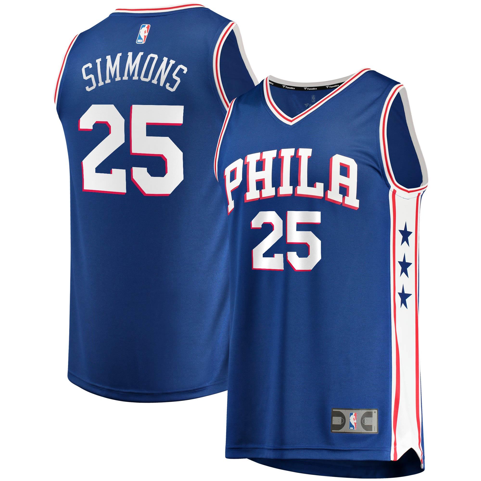 Ben Simmons Philadelphia 76ers Fanatics Branded Youth 2019/20 Fast Break Replica Jersey - Icon Edition - Royal