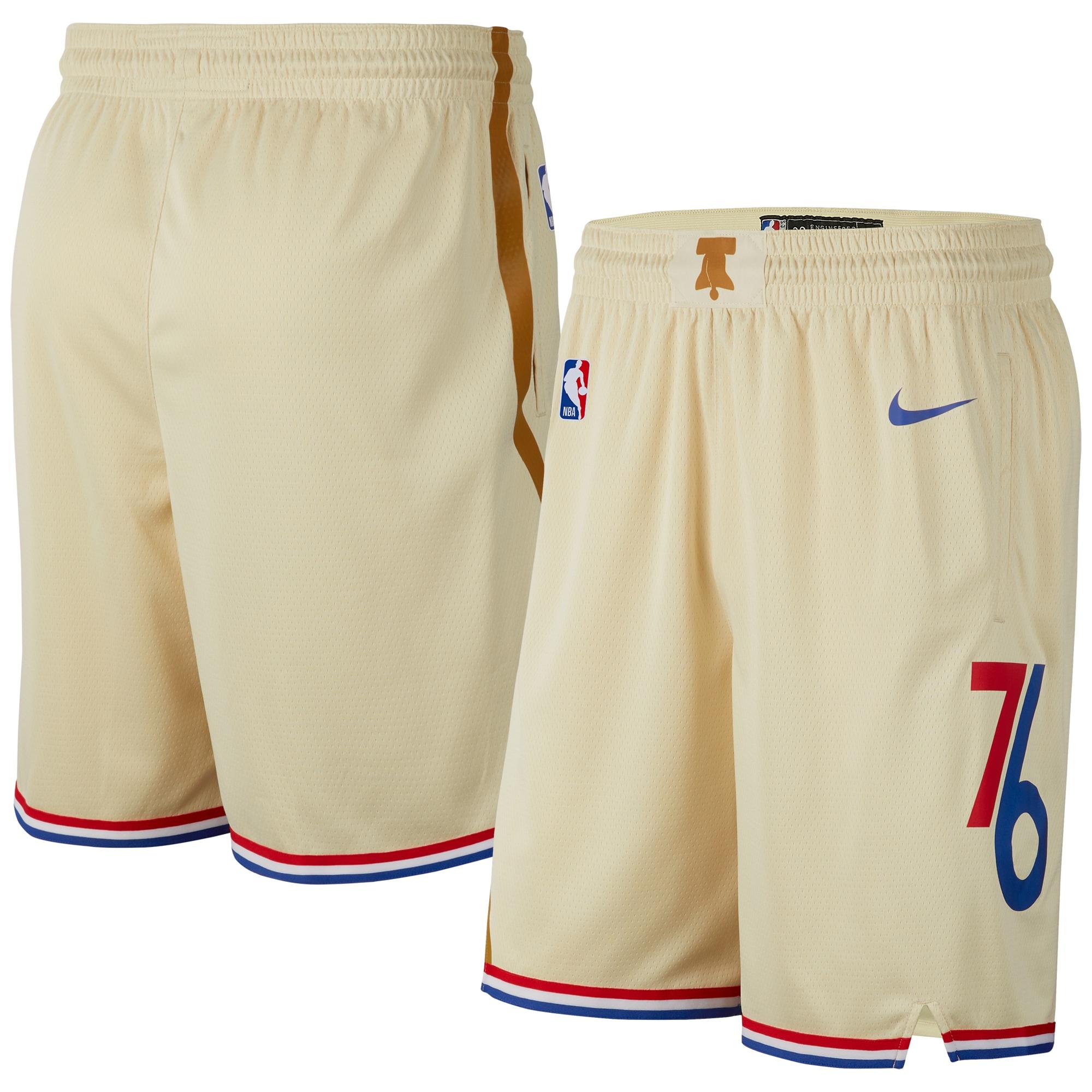 Philadelphia 76ers Nike Youth 2019/20 City Edition Swingman Shorts - Cream