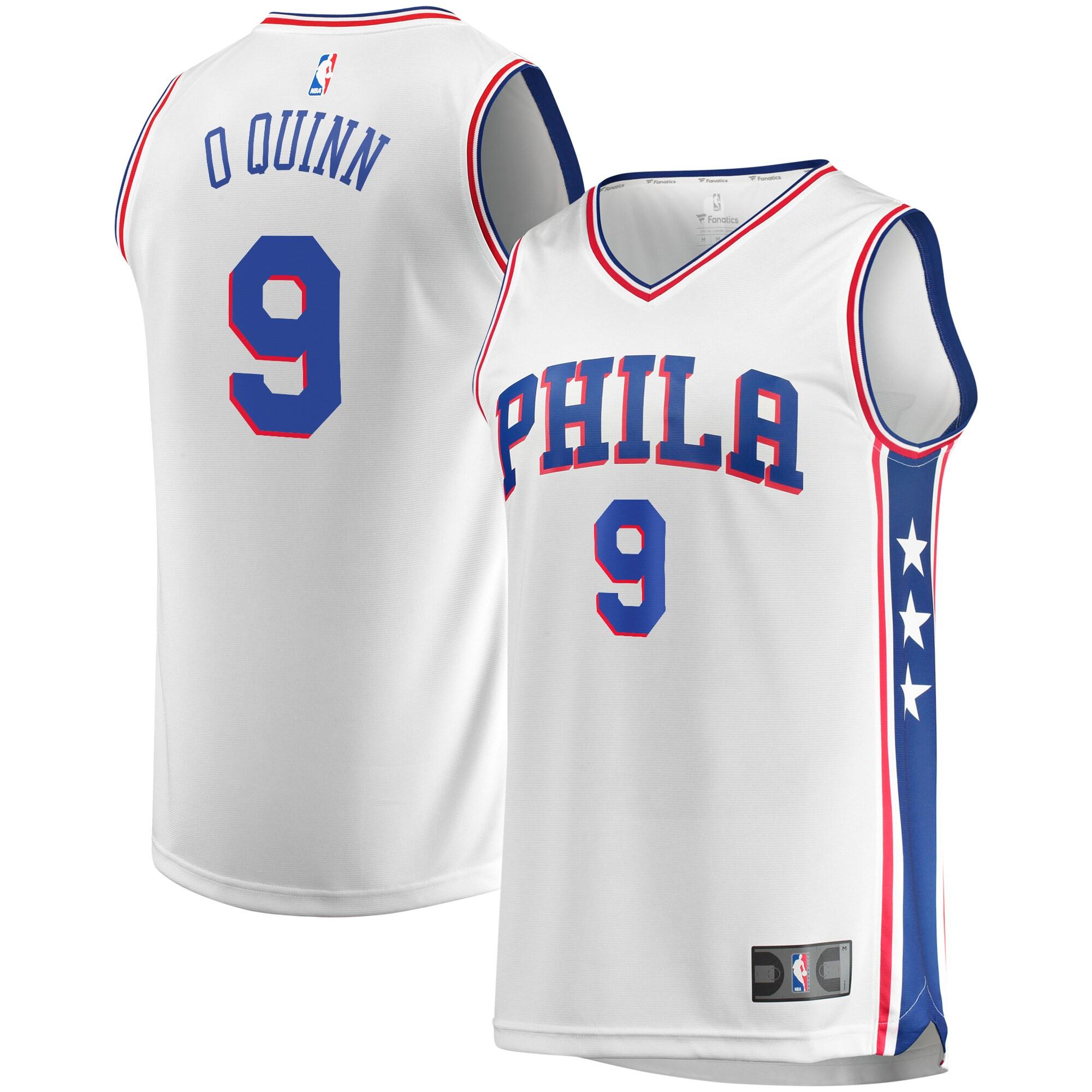 Kyle O'Quinn Philadelphia 76ers Fanatics Branded Fast Break Replica Player Jersey White - Association Edition