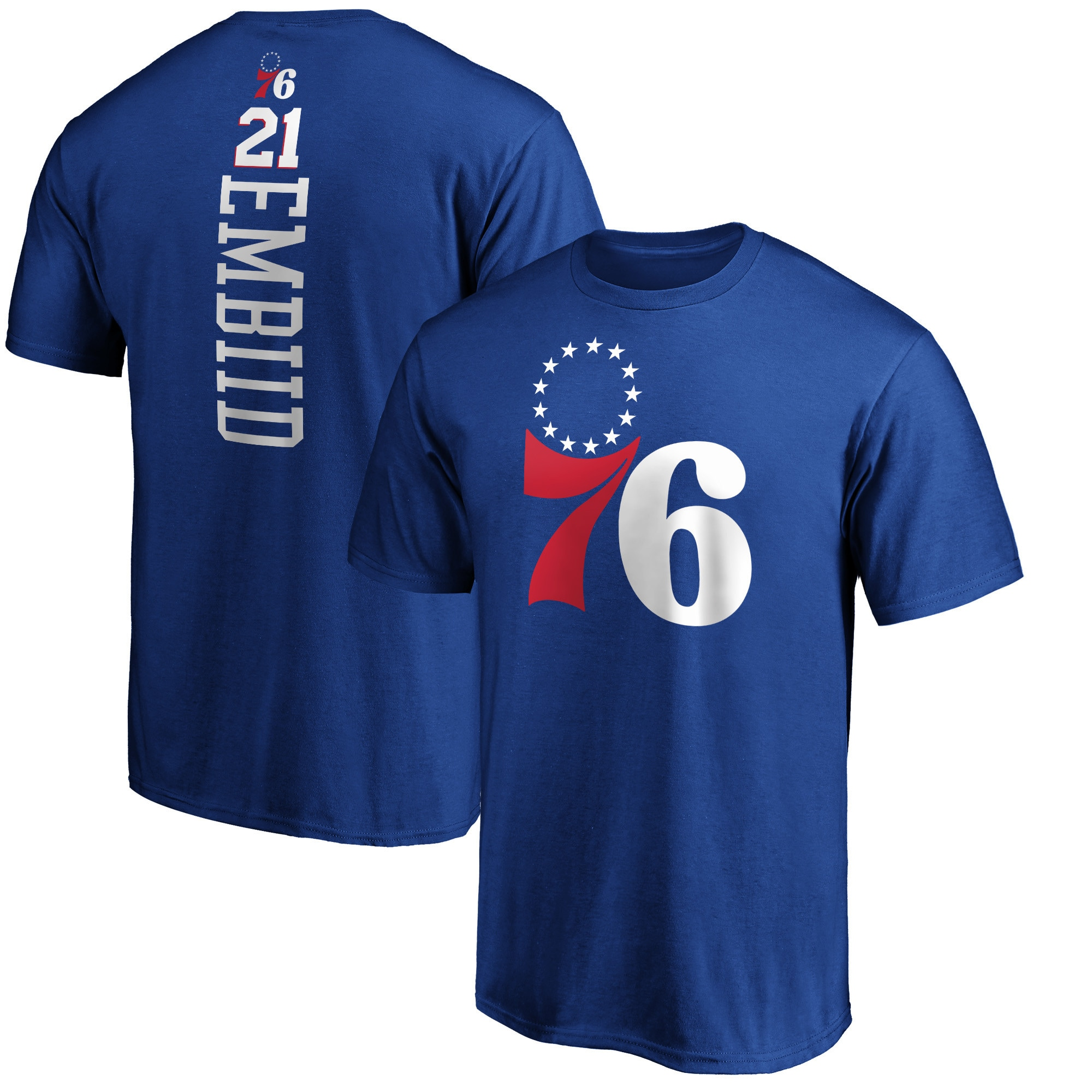 Joel Embiid Philadelphia 76ers Fanatics Branded Playmaker Name & Number T-Shirt - Royal