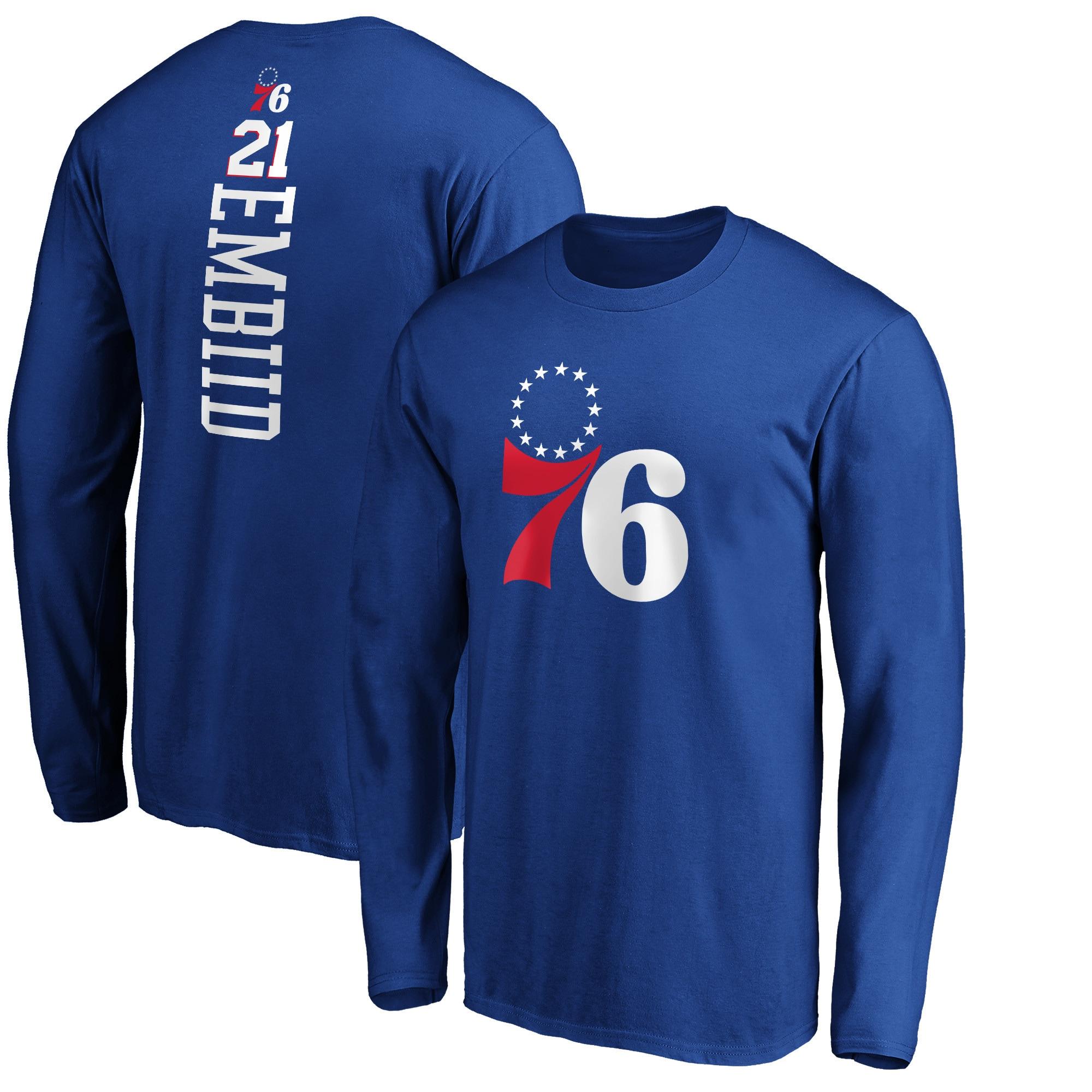 Joel Embiid Philadelphia 76ers Fanatics Branded Team Playmaker Name & Number Long Sleeve T-Shirt - Royal