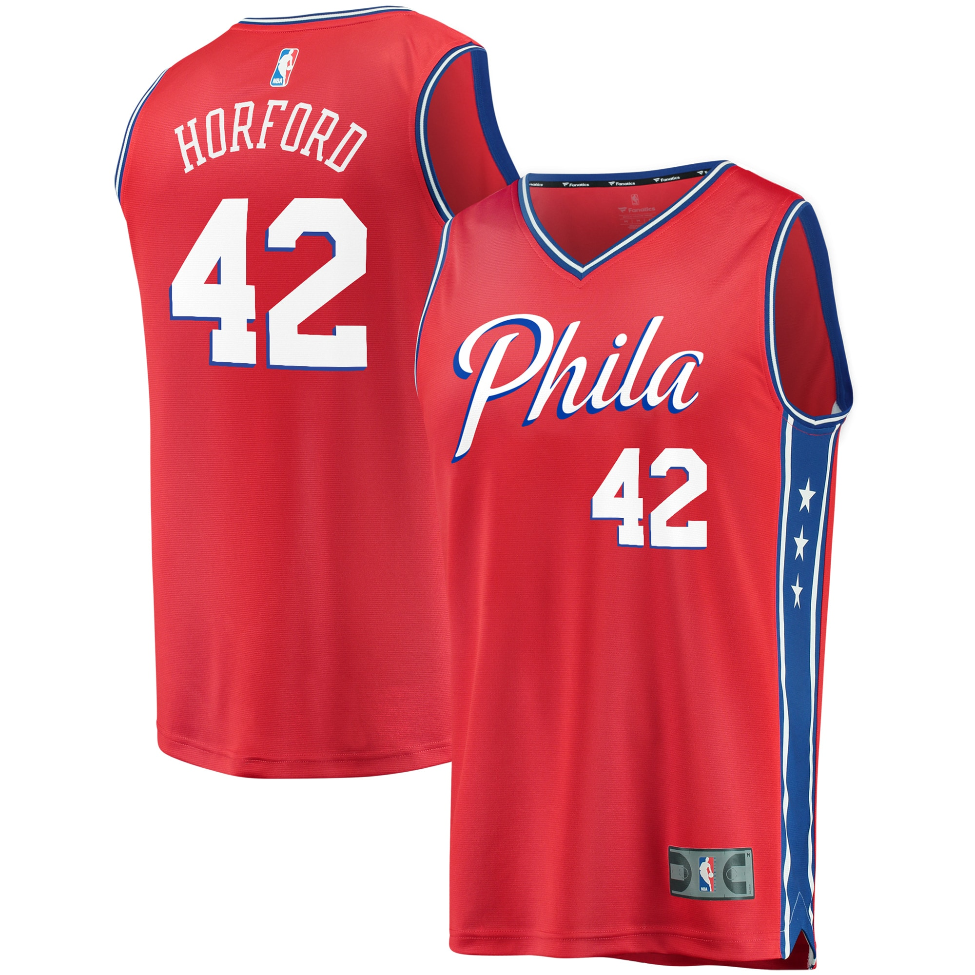 Al Horford Philadelphia 76ers Fanatics Branded Fast Break Replica Jersey - Statement Edition - Red