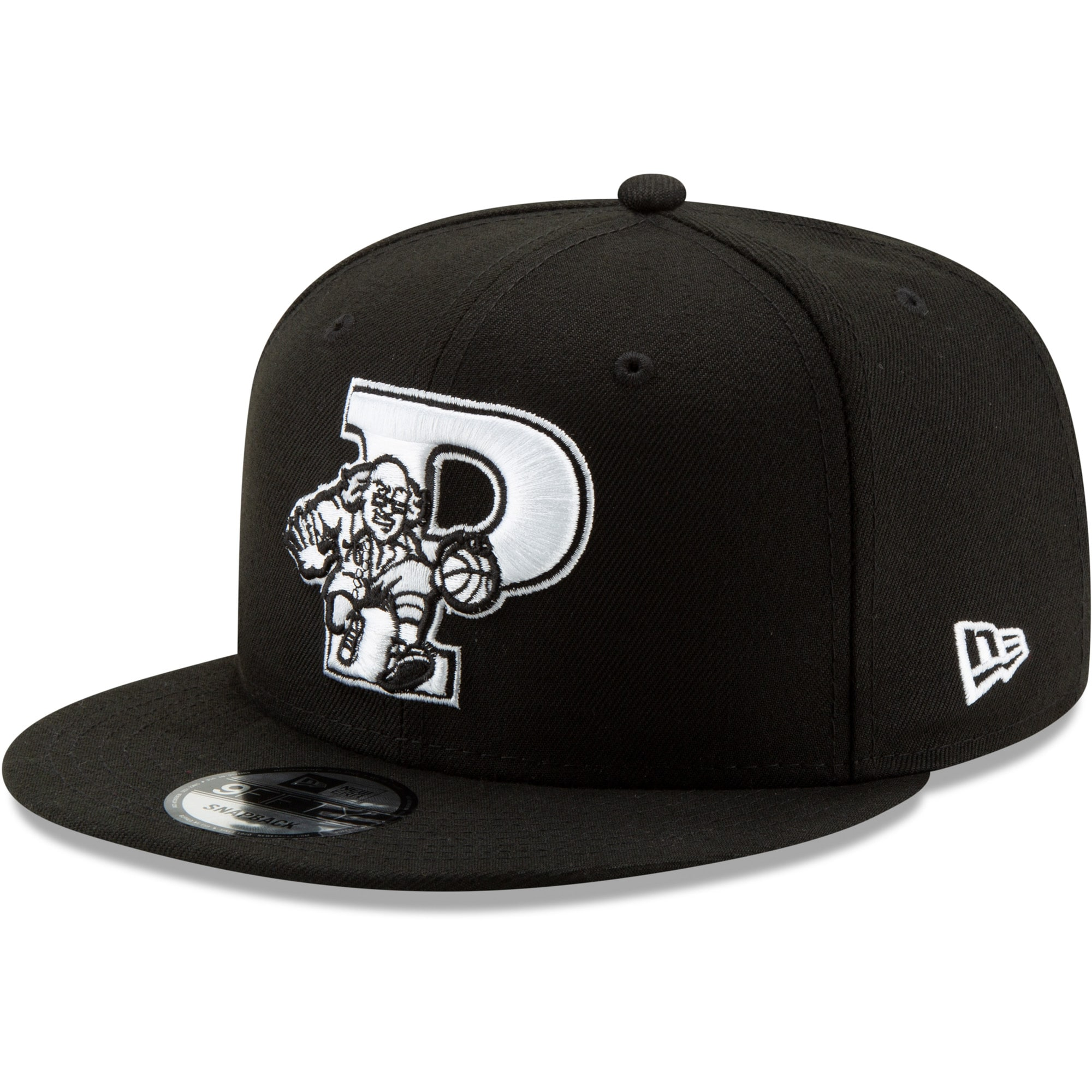 Philadelphia 76ers New Era Back Half Series 9FIFTY Adjustable Snapback Hat - Black