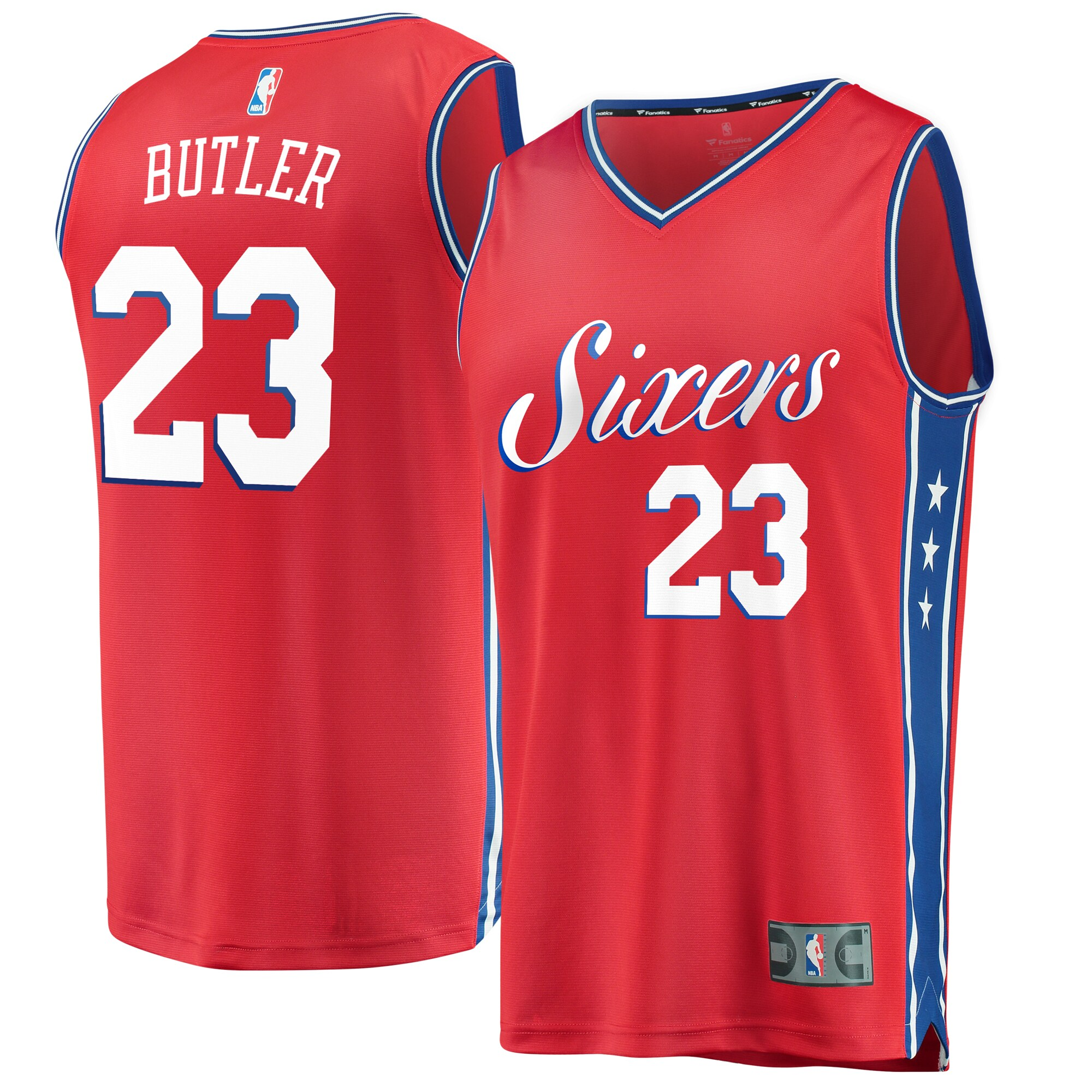 Jimmy Butler Philadelphia 76ers Fanatics Branded Fast Break Replica Player Jersey- Statement Edition - Red