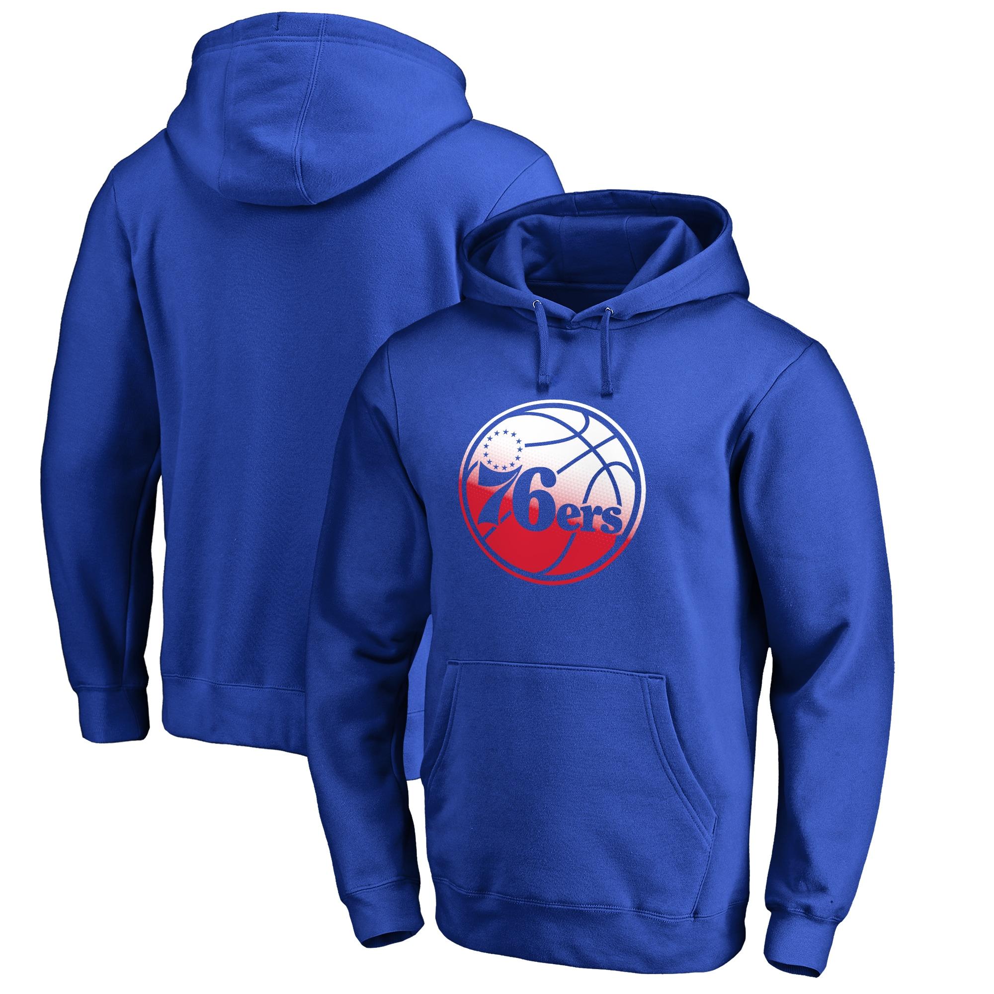 Philadelphia 76ers Fanatics Branded Gradient Logo Pullover Hoodie - Royal