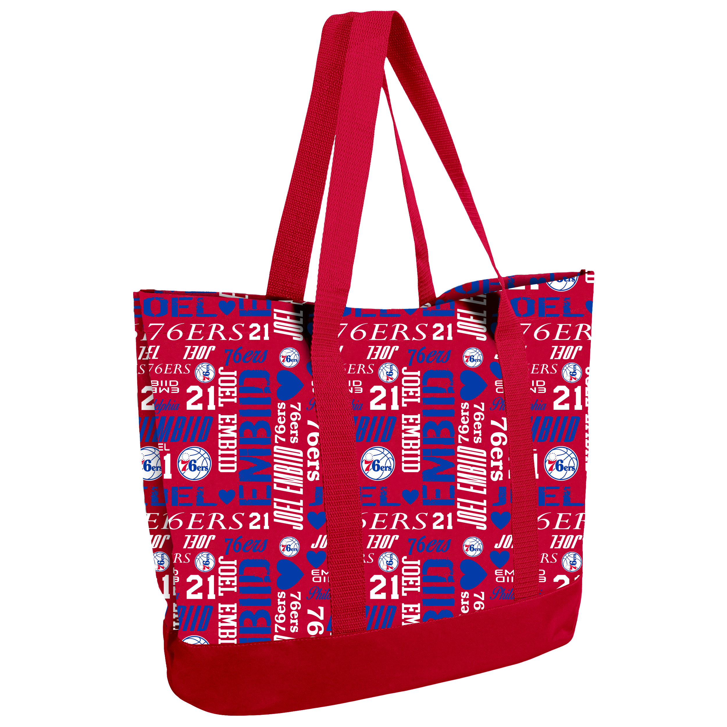 Joel Embiid Philadelphia 76ers Women's Player Collage Tote Bag