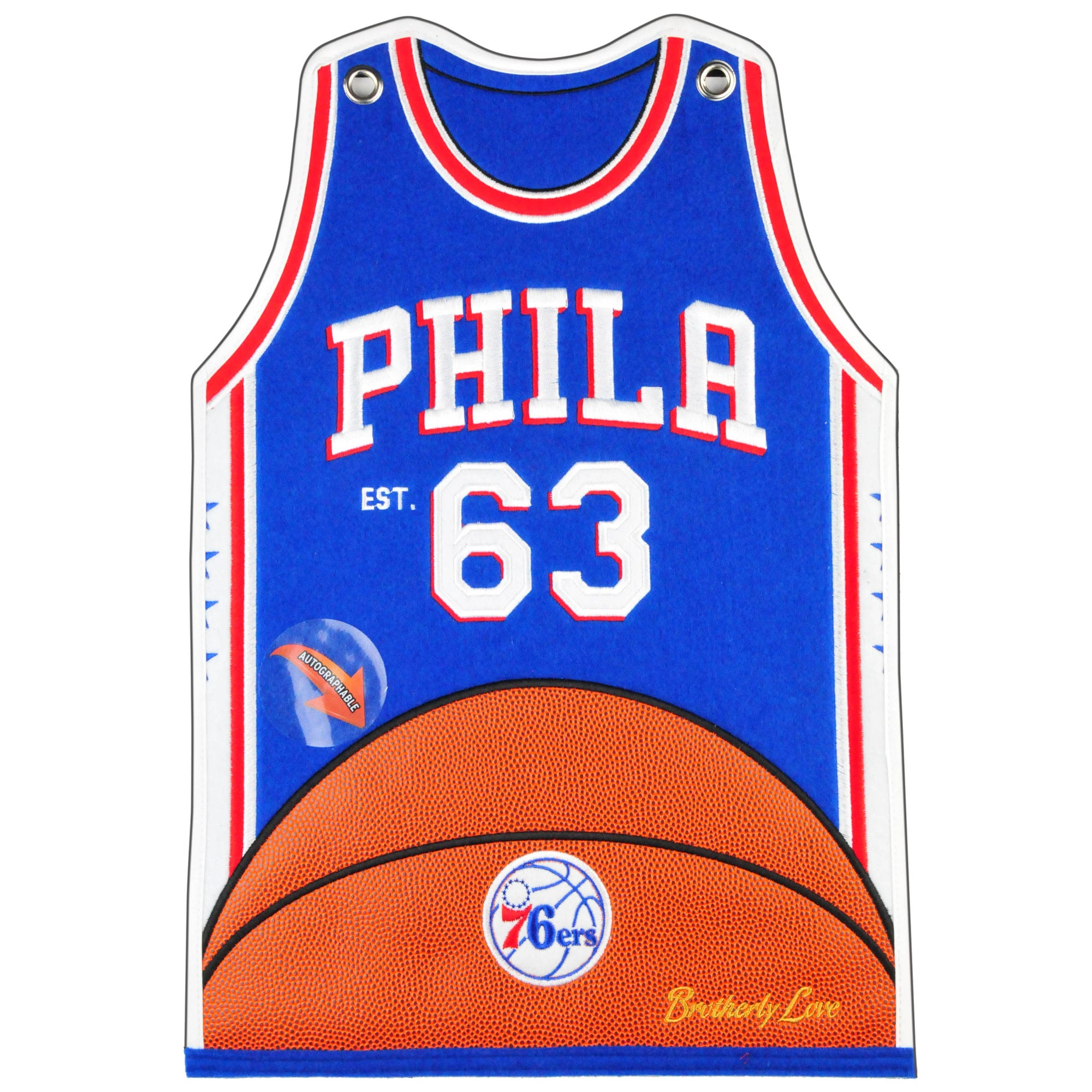 Philadelphia 76ers 20'' x 18'' Jersey Traditions Banner