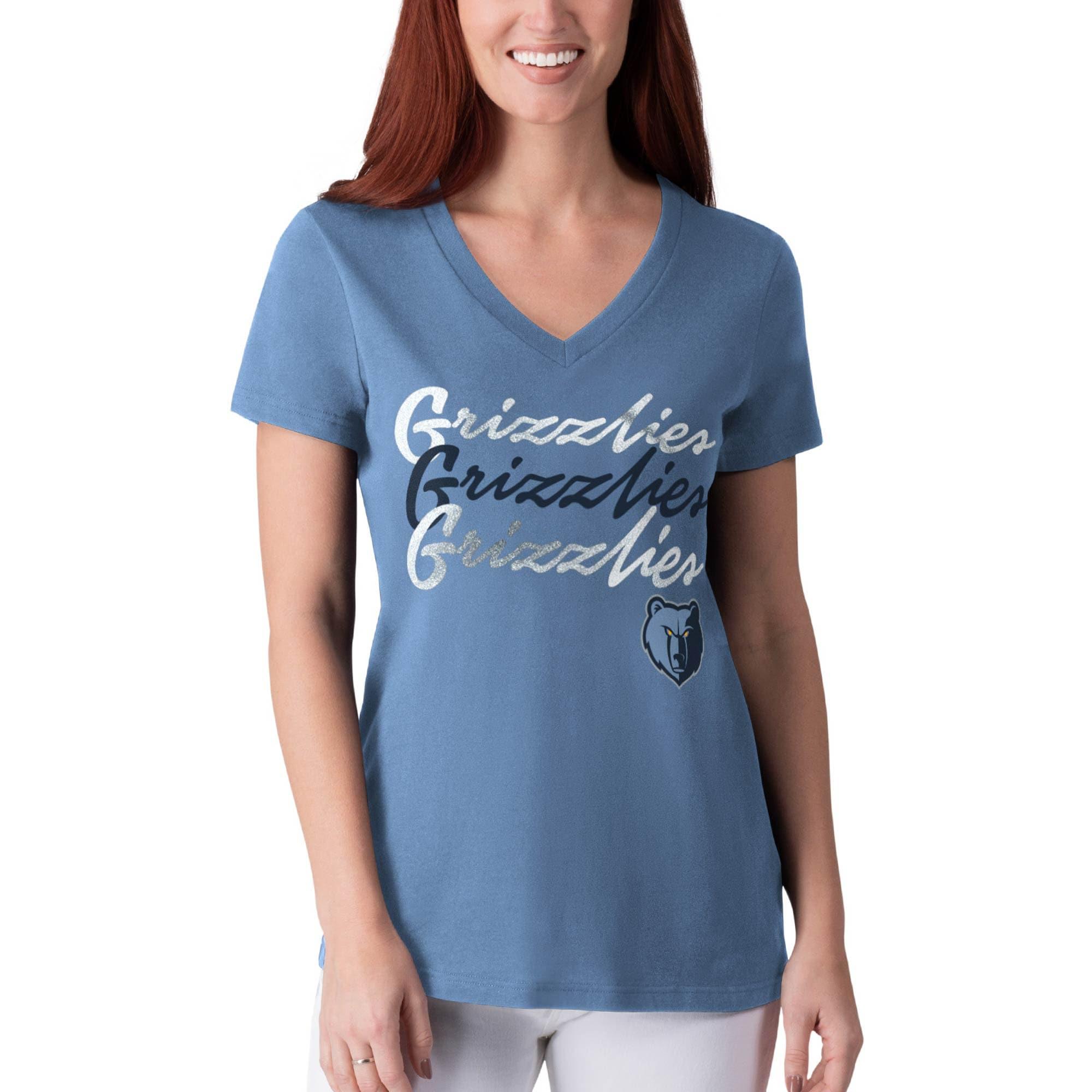 Memphis Grizzlies G-III 4Her by Carl Banks Women's Power Forward Foil T-Shirt - Light Blue