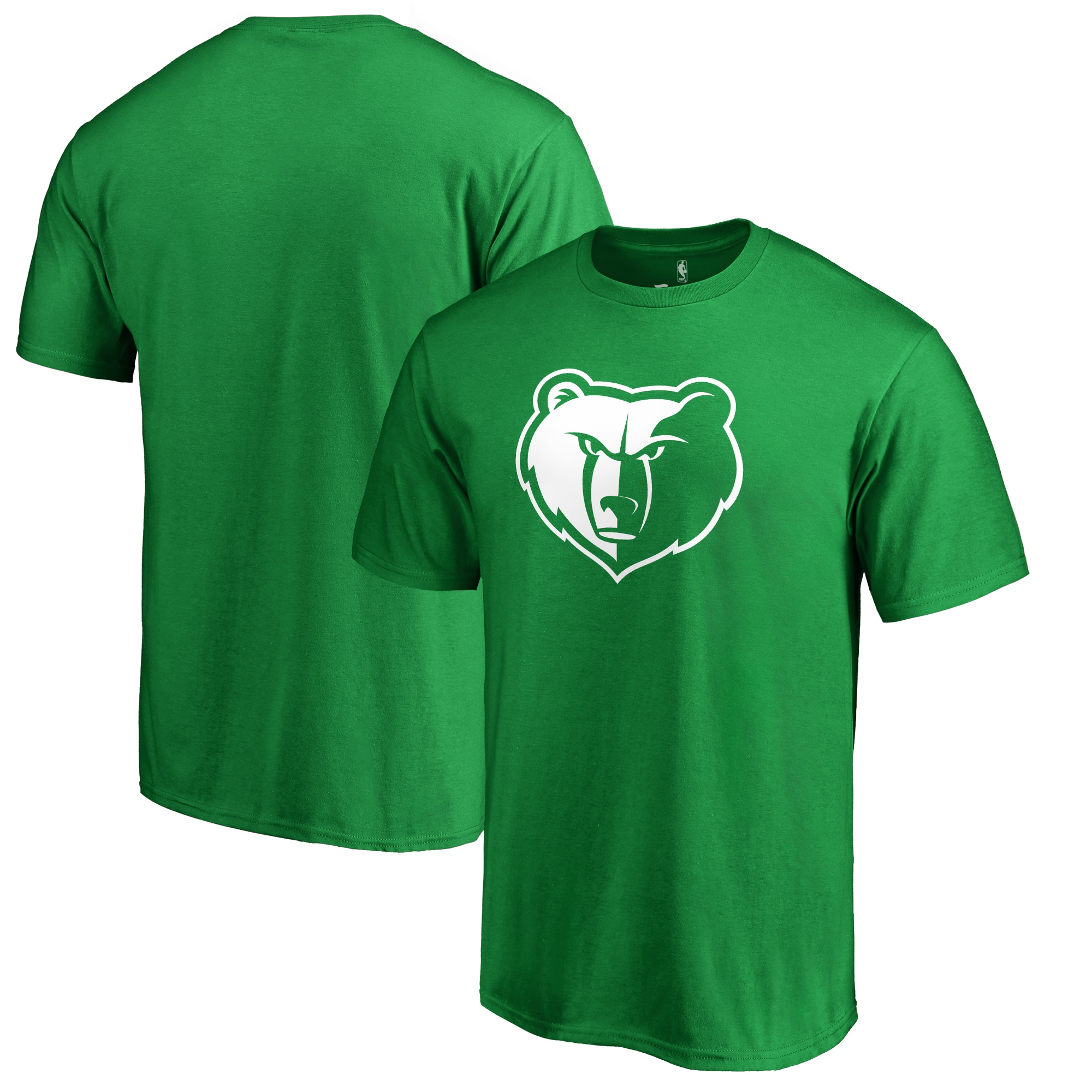 Memphis Grizzlies Fanatics Branded St. Patrick's Day White Logo T-Shirt - Green