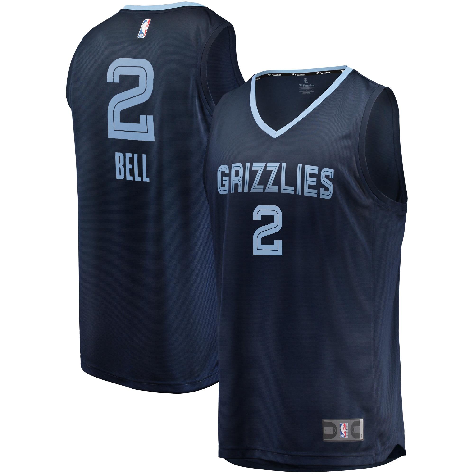 Jordan Bell Memphis Grizzlies Fanatics Branded Fast Break Player Jersey - Icon Edition - Navy