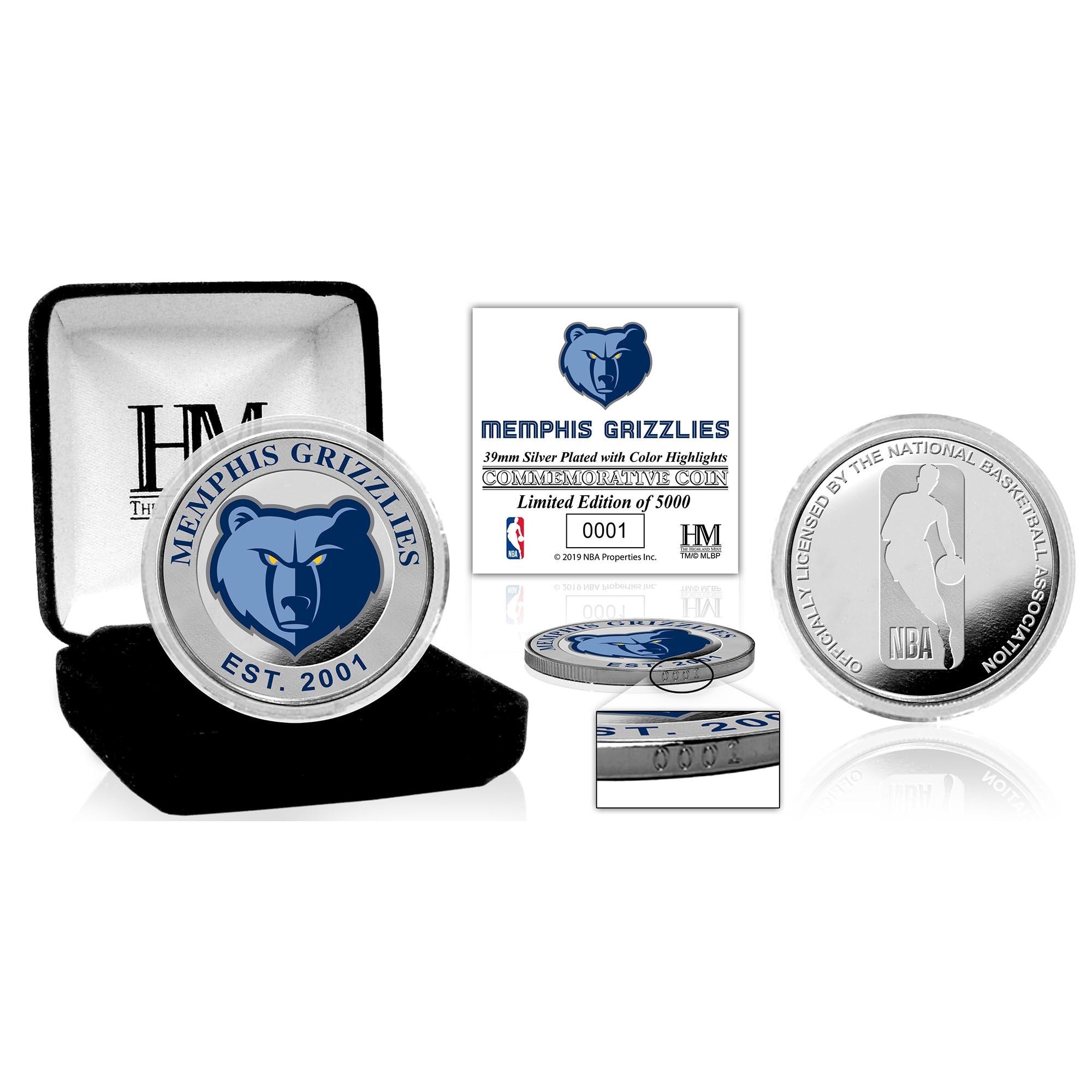 Memphis Grizzlies Highland Mint Color Silver Coin