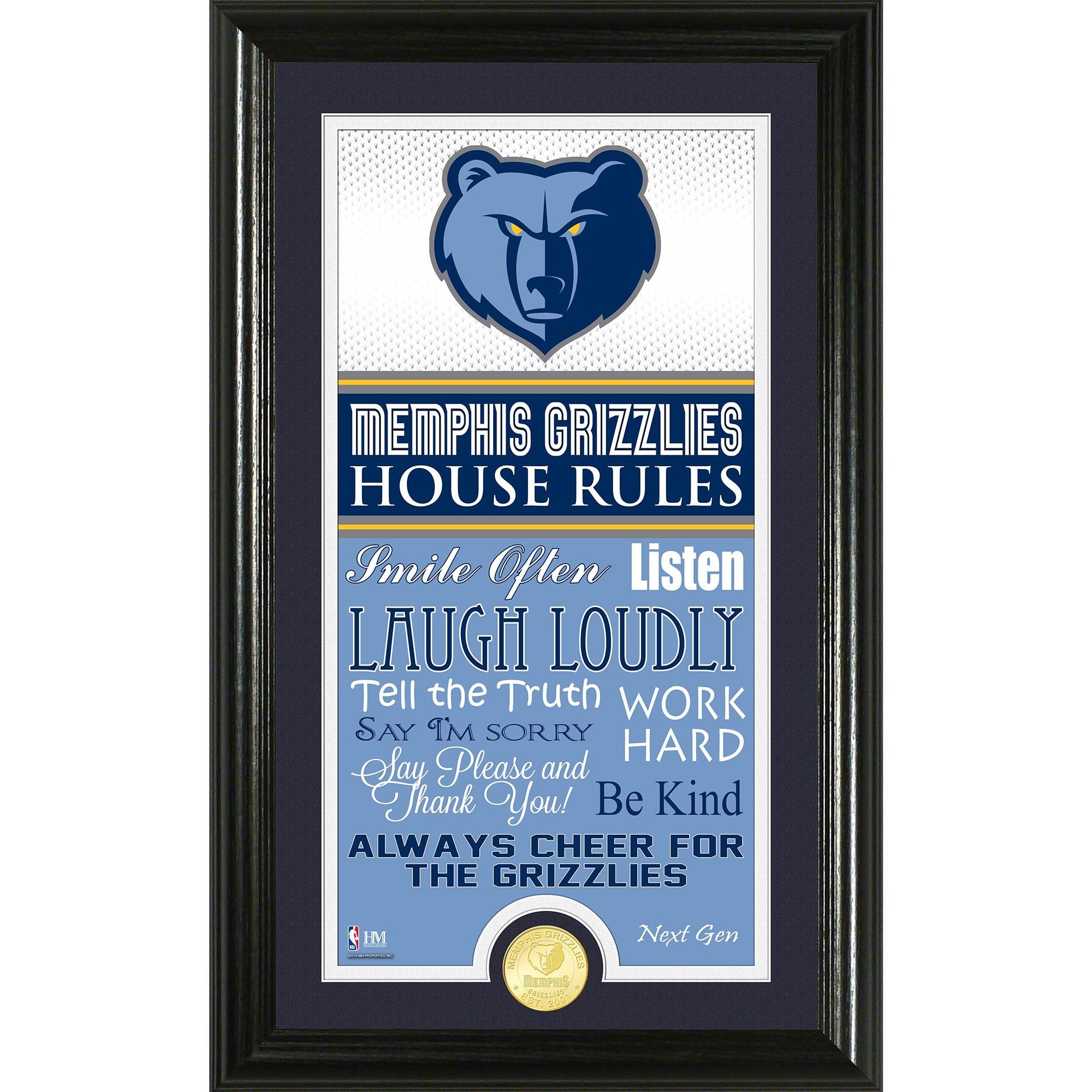 Memphis Grizzlies Highland Mint House Rules Bronze Coin Photo Mint