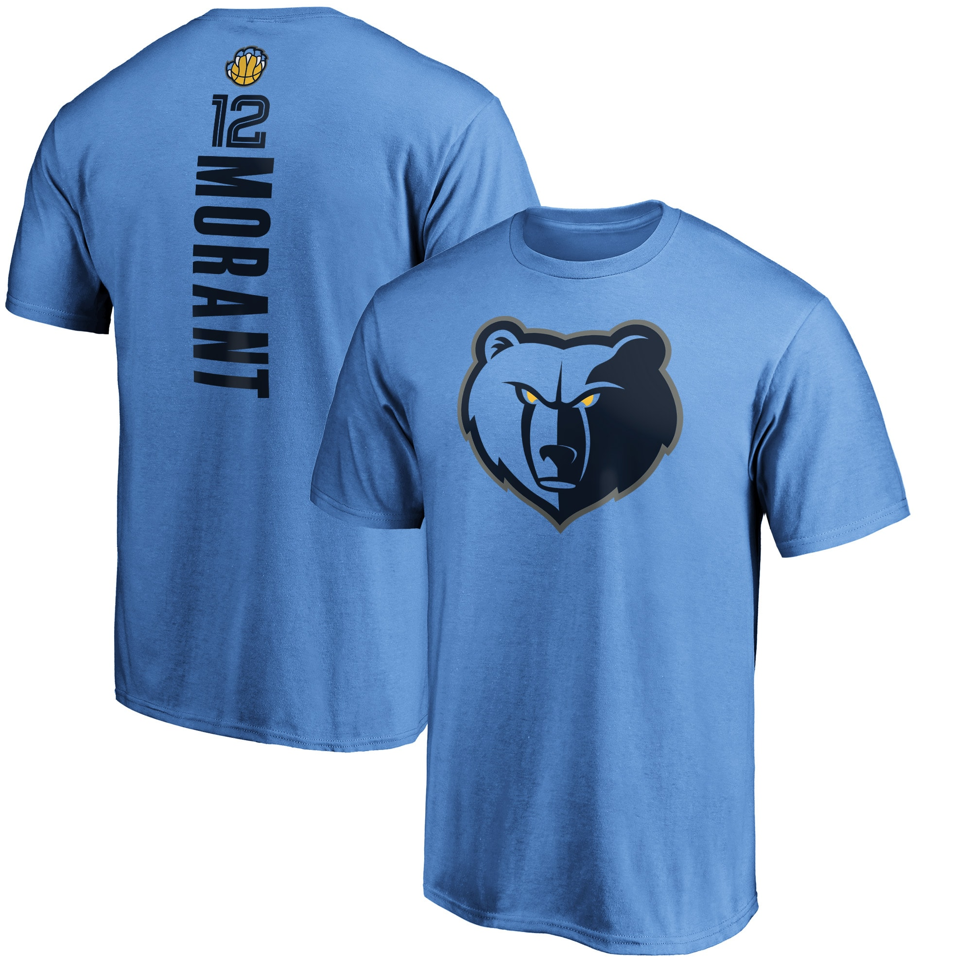 Ja Morant Memphis Grizzlies Fanatics Branded Playmaker Name & Number Team T-Shirt - Light Blue