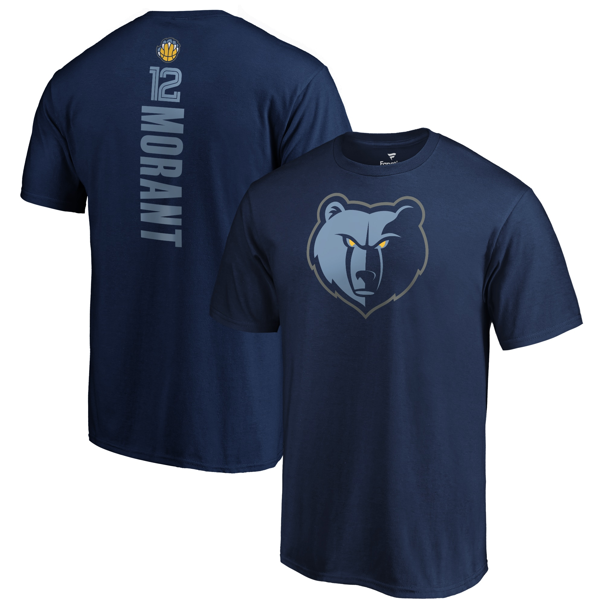 Ja Morant Memphis Grizzlies Fanatics Branded Team Playmaker Name & Number T-Shirt - Navy