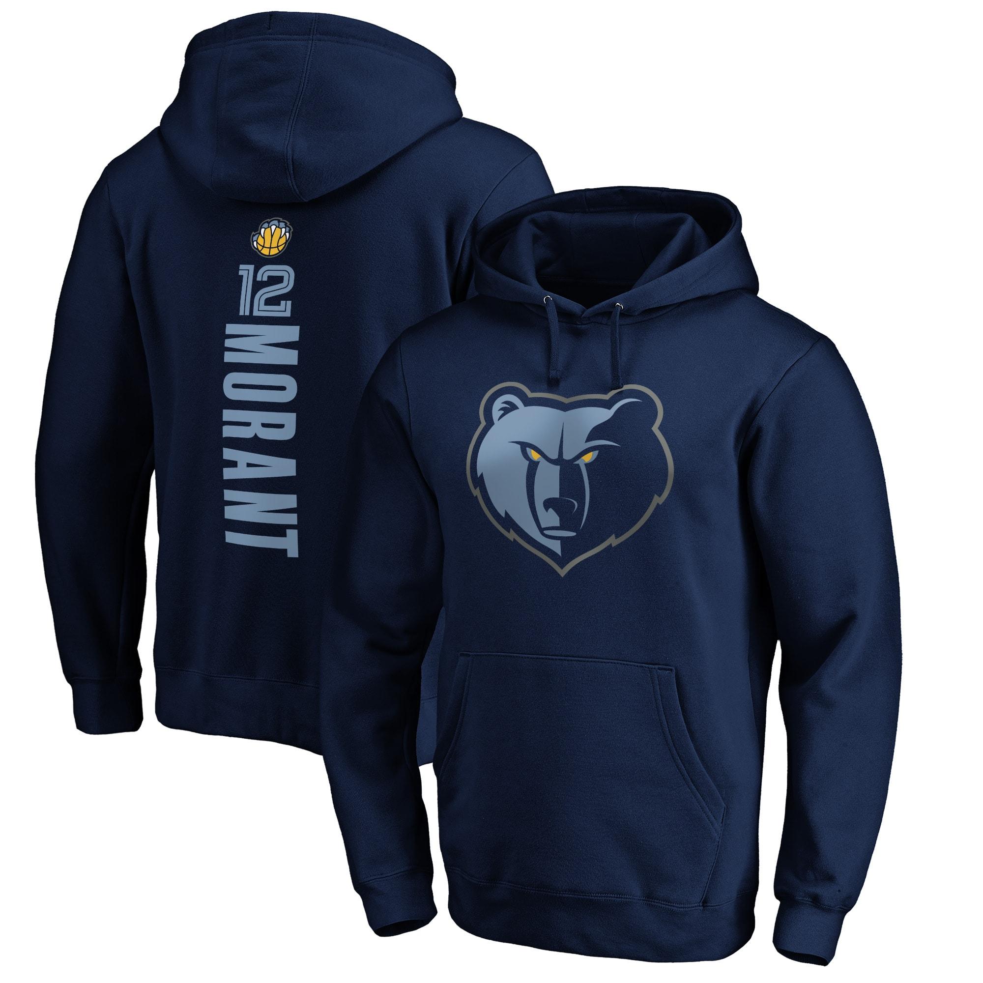 Ja Morant Memphis Grizzlies Fanatics Branded Playmaker Name & Number Pullover Hoodie - Navy
