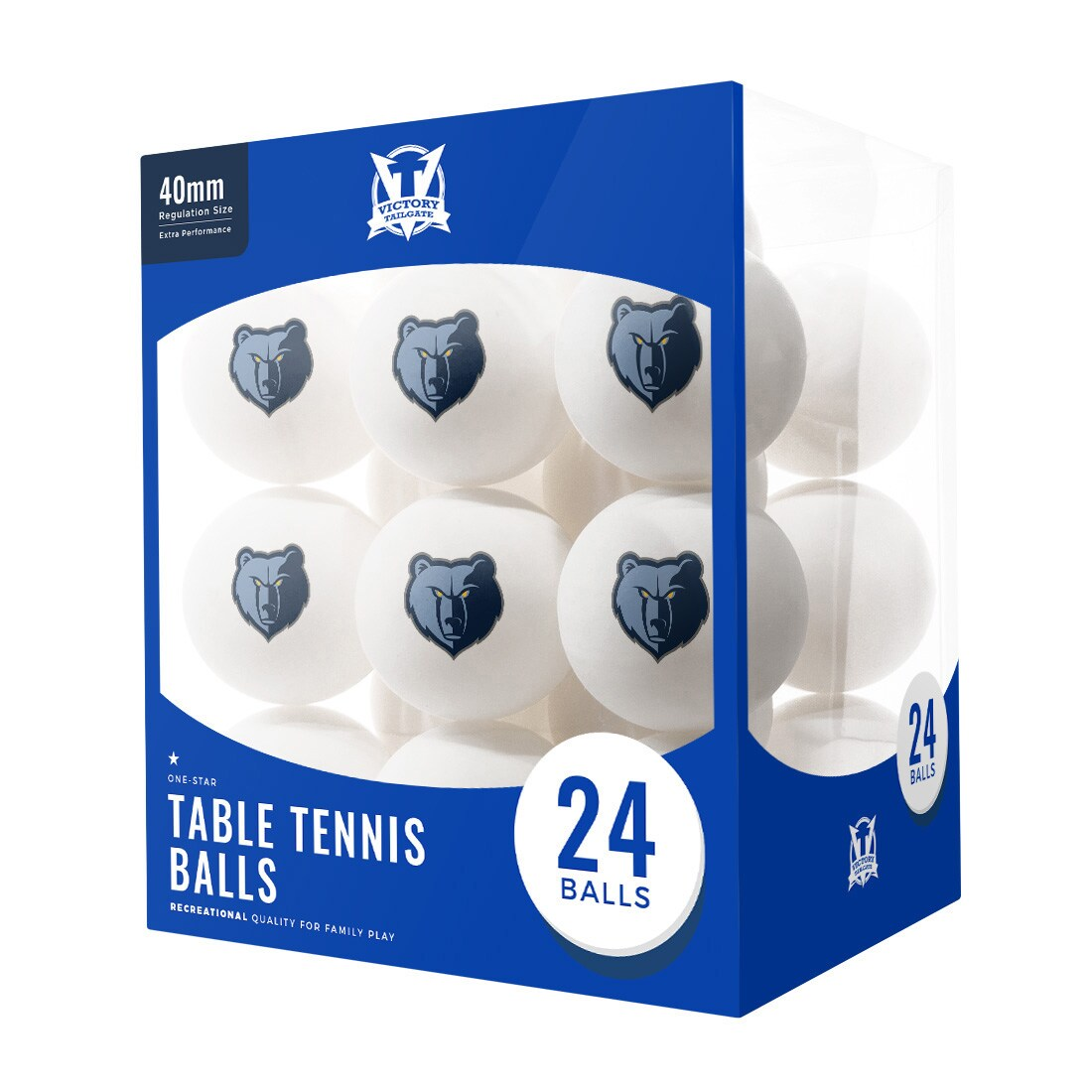 Memphis Grizzlies 24-Count Logo Table Tennis Balls