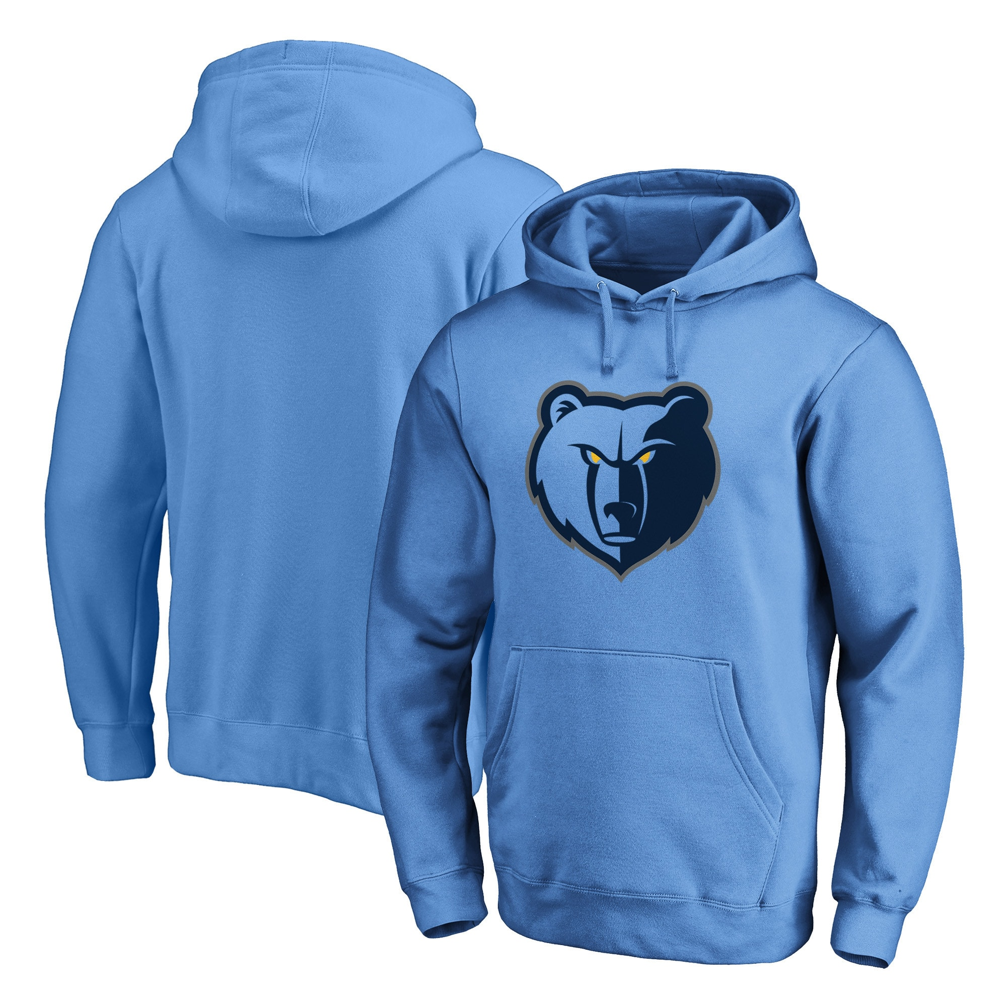 Memphis Grizzlies Fanatics Branded Primary Team Logo Pullover Hoodie - Light Blue