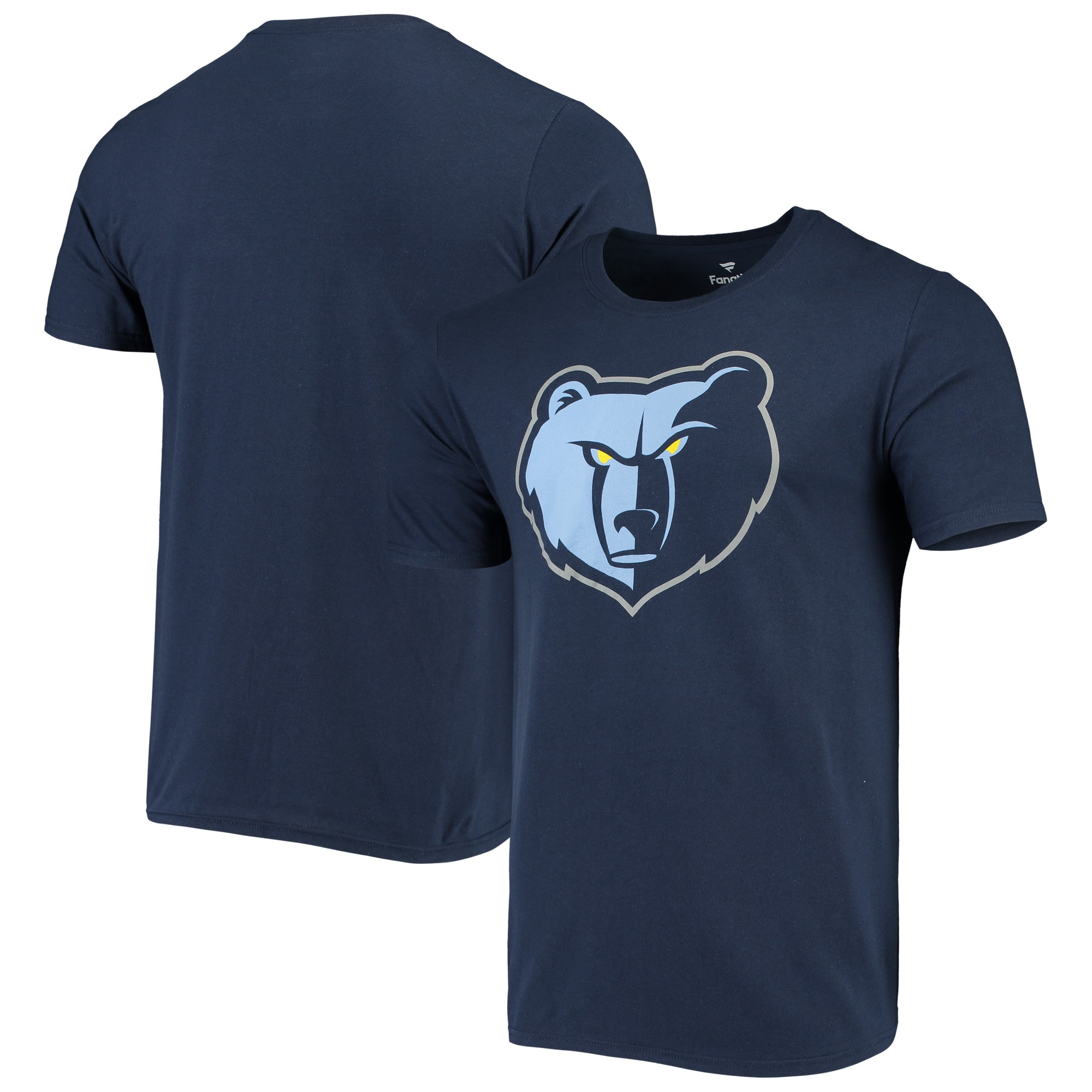 Memphis Grizzlies Fanatics Branded Primary Team Logo T-Shirt - Navy