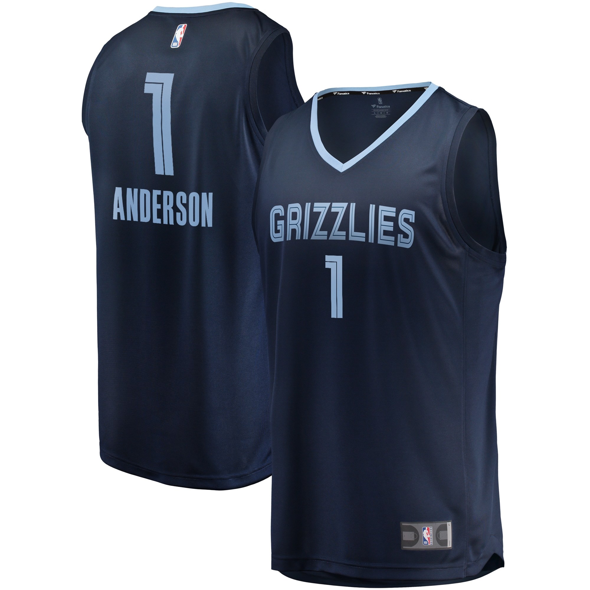 Kyle Anderson Memphis Grizzlies Fanatics Branded Fast Break Player Jersey Navy - Icon Edition