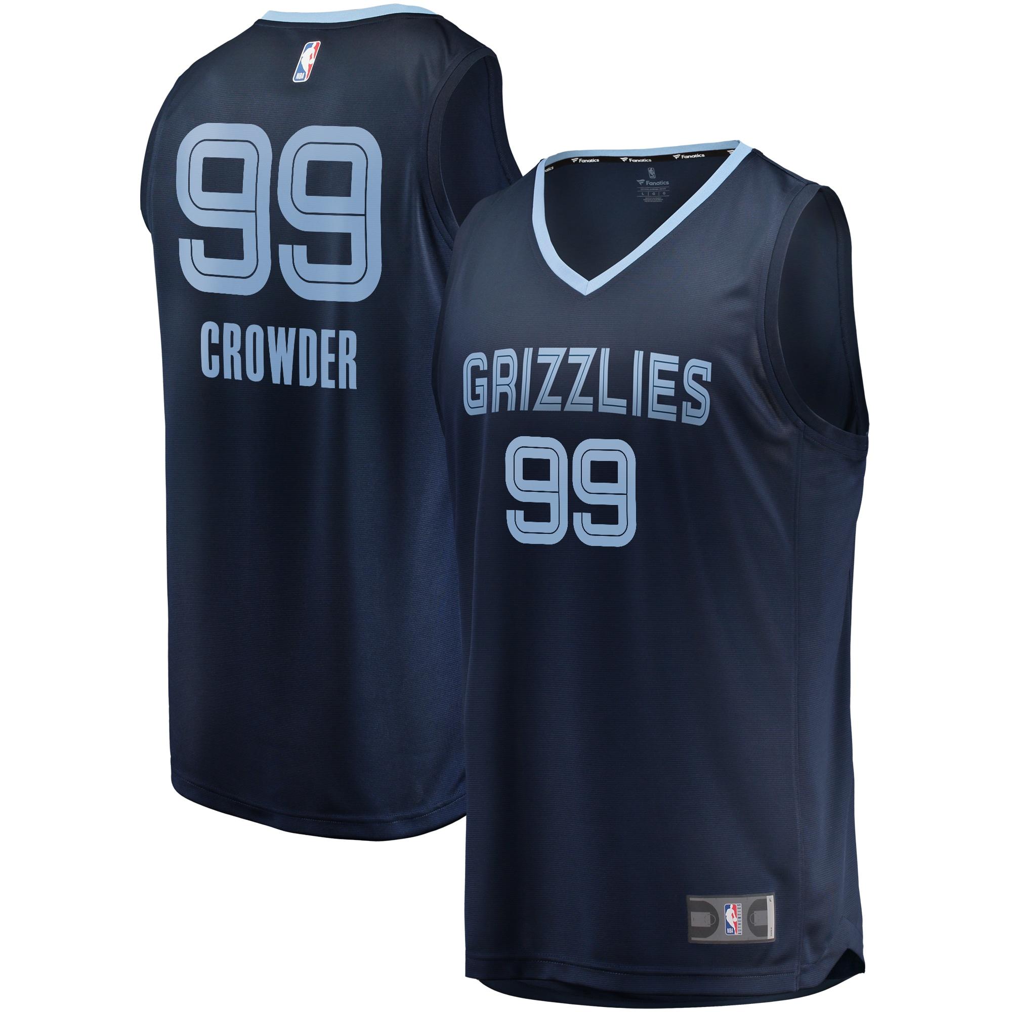 Jae Crowder Memphis Grizzlies Fanatics Branded Fast Break Player Jersey Navy - Icon Edition
