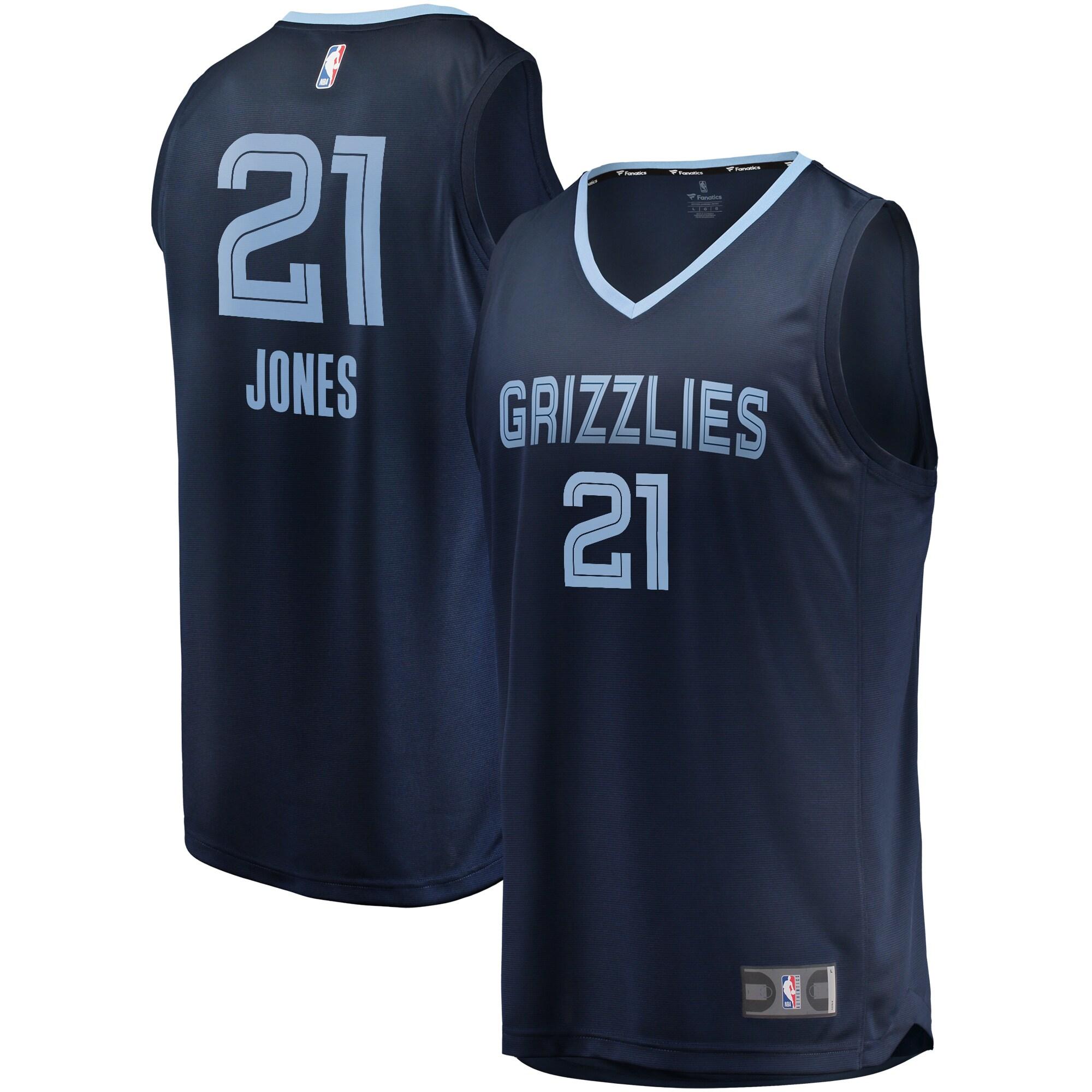 Tyus Jones Memphis Grizzlies Fanatics Branded Fast Break Player Jersey Navy - Icon Edition