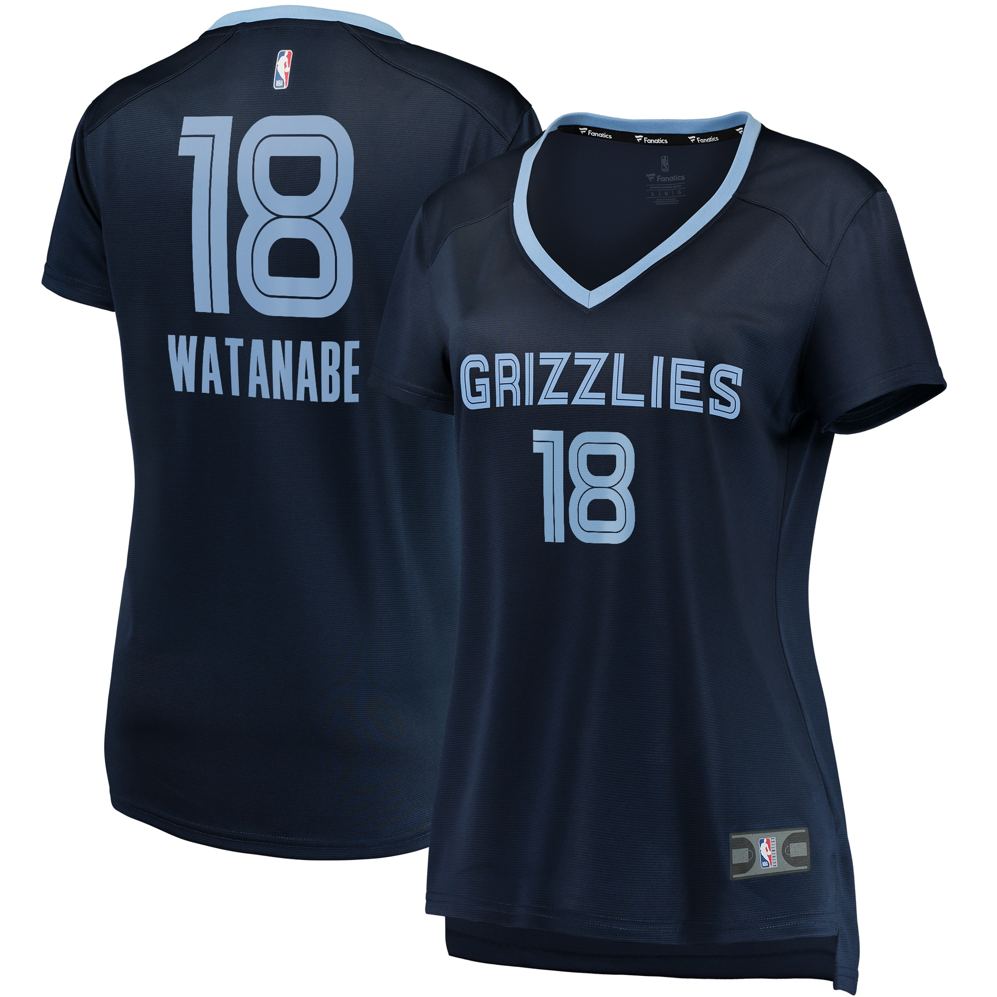 Yuta Watanabe Memphis Grizzlies Fanatics Branded Women's Fast Break Player Jersey - Icon Edition - Navy