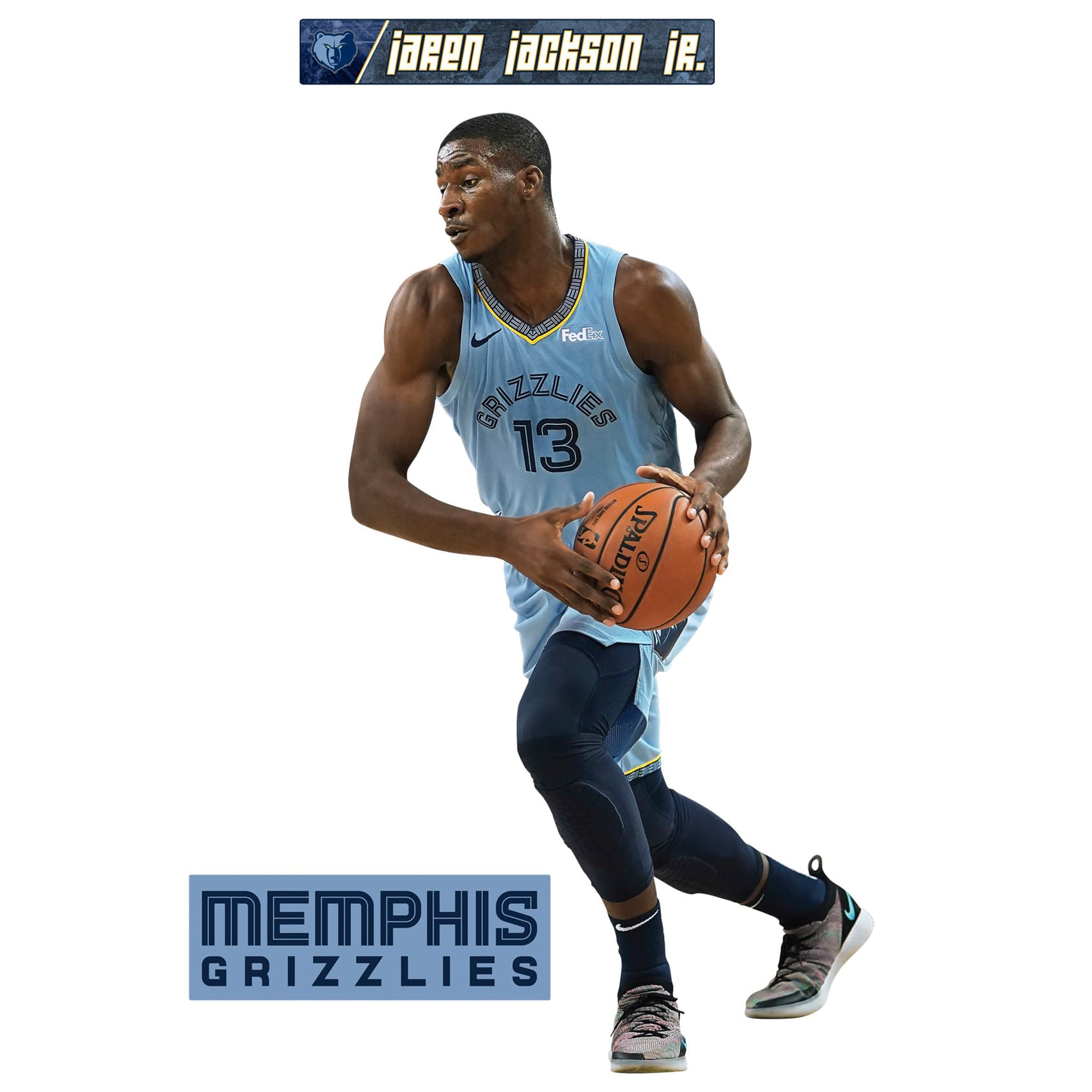 Jaren Jackson Jr. Memphis Grizzlies Fathead 3-Pack Life-Size Removable Wall Decal