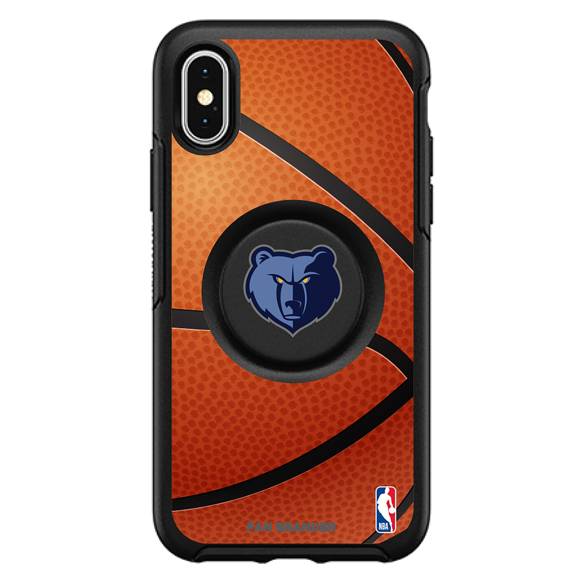 Memphis Grizzlies OtterBox Primary Otter+Pop PopGrip Symmetry iPhone Case - Black