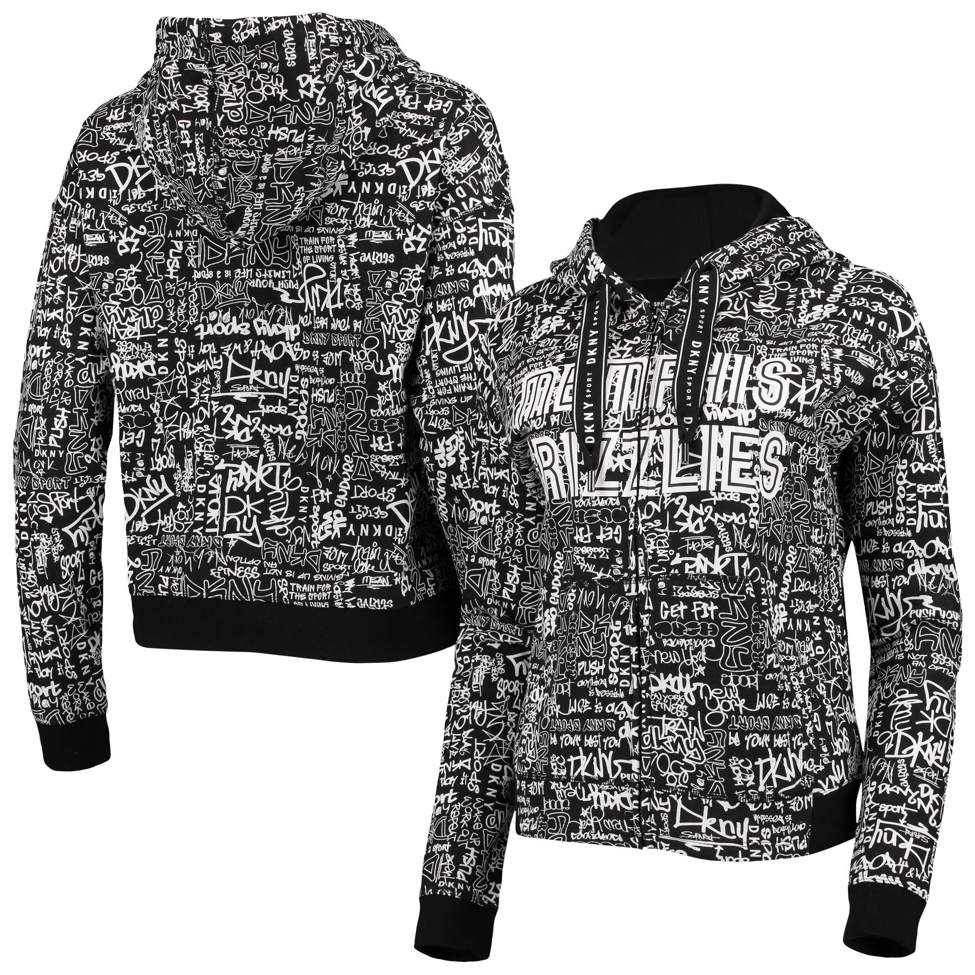 Memphis Grizzlies DKNY Sport Women's Urban Pullover Hoodie - Black