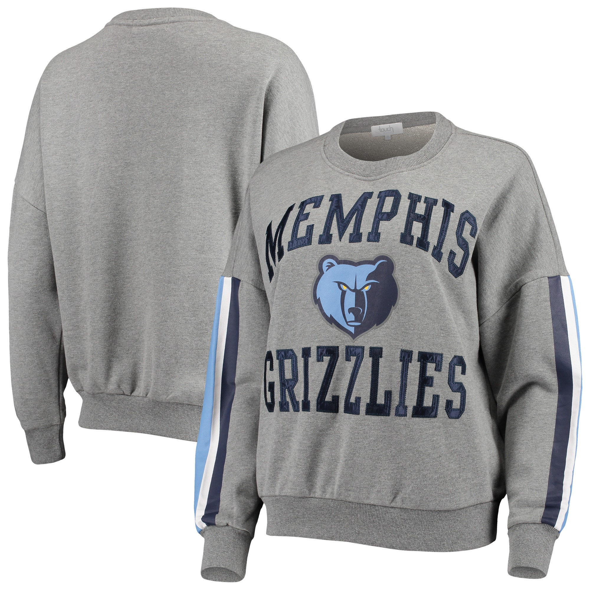 Memphis Grizzlies G-III 4Her by Carl Banks Women's Slouchy Rookie French Terry Pullover Sweatshirt - Gray